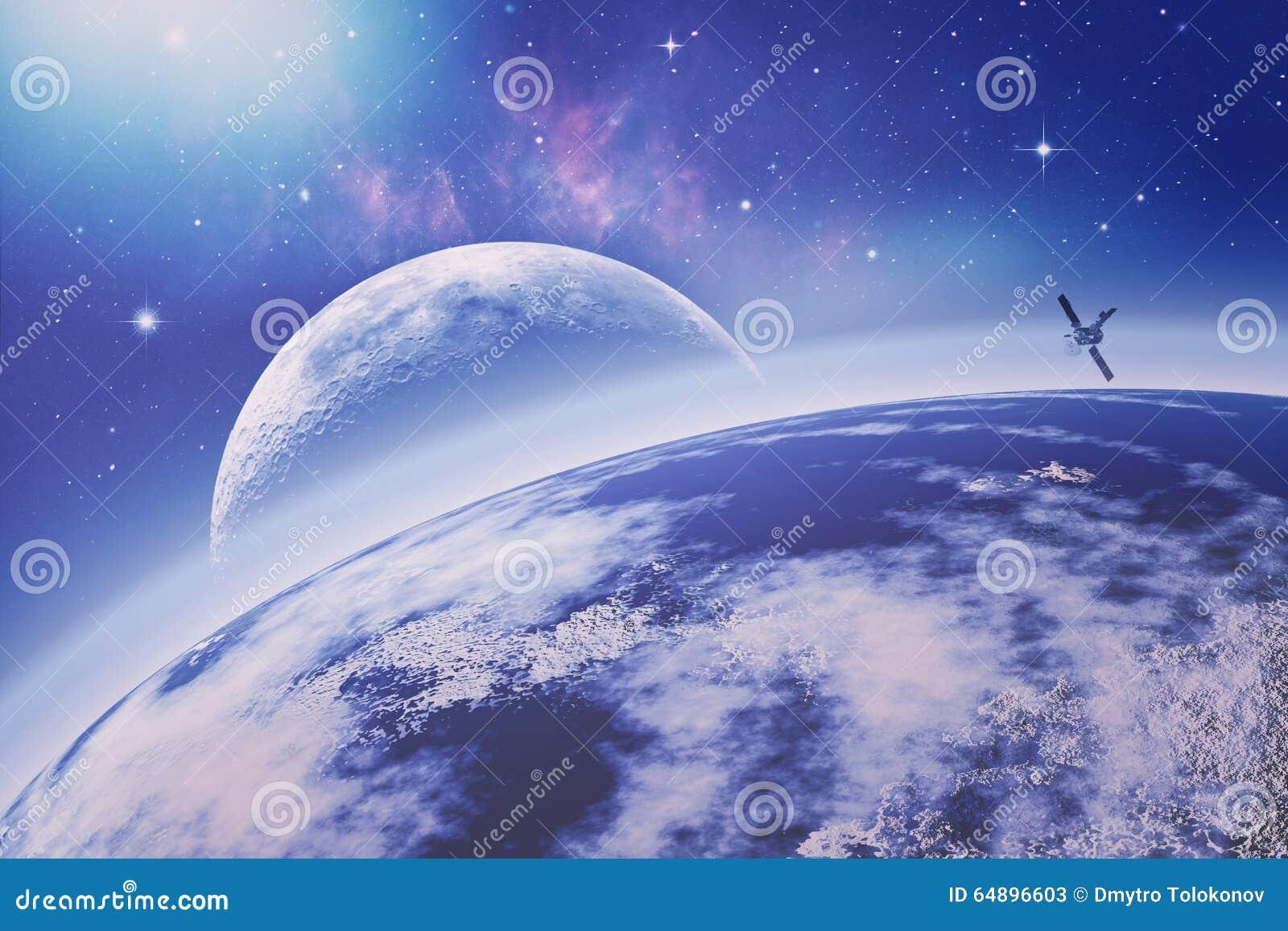 Sur l orbite terrestre Univers Milieux de science abstraite la NASA
