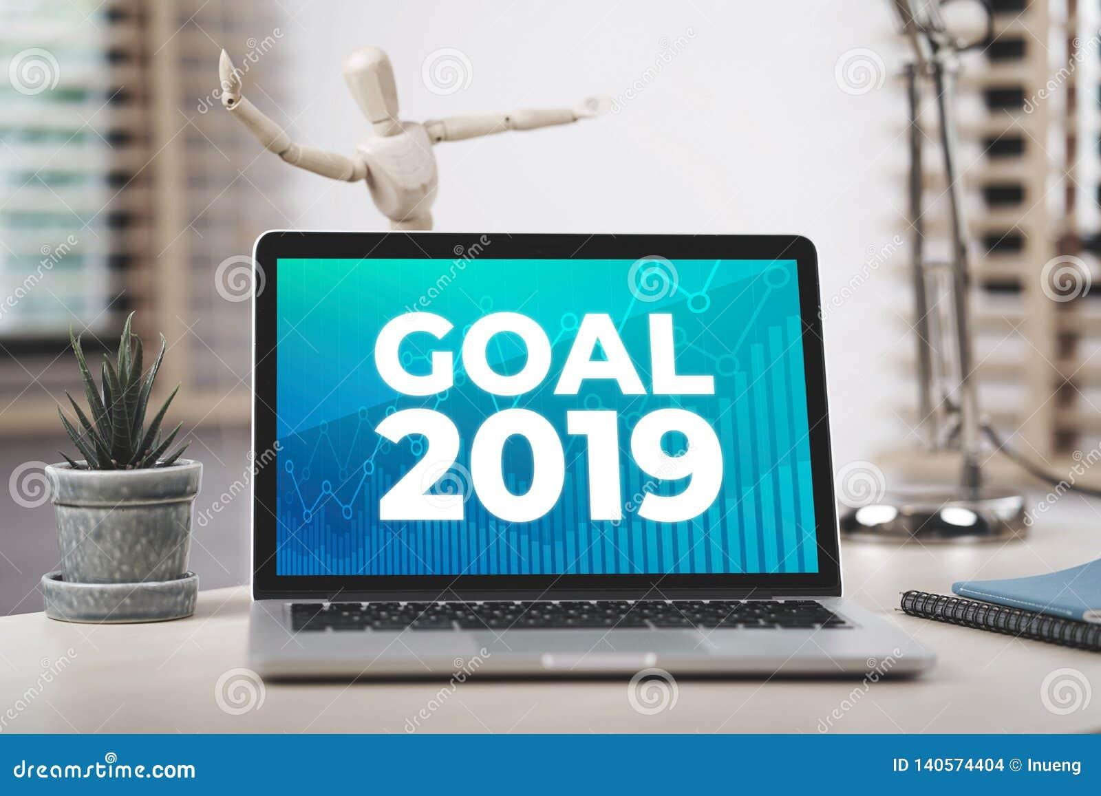 But 2019 Sur L Ordinateur Portable D écran Photo Stock