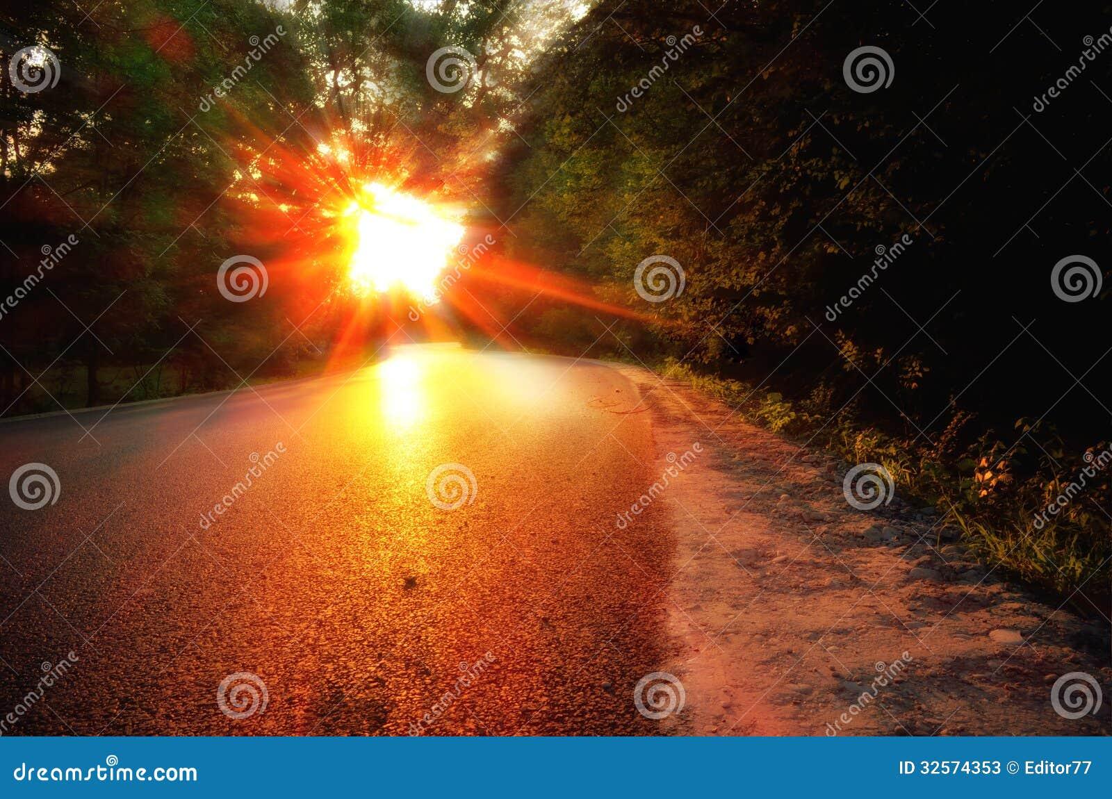 Sur le chemin de la maison de route