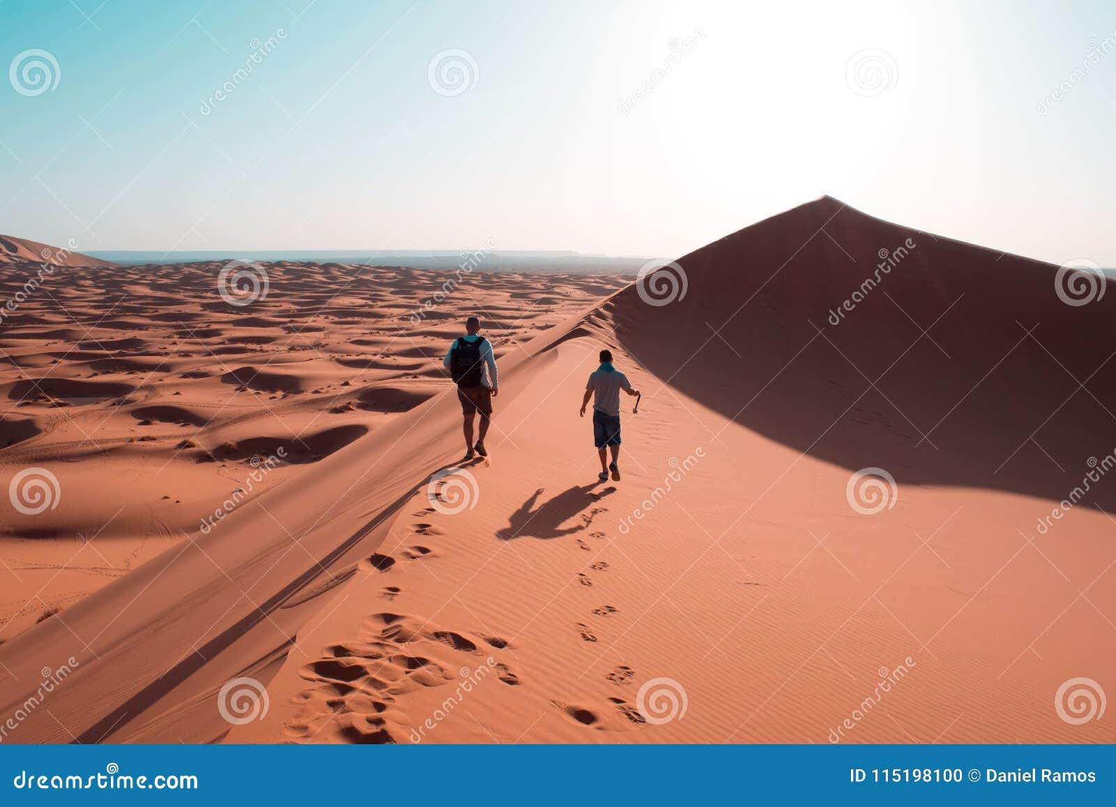 Sur les dunes du désert du Sahara au Maroc