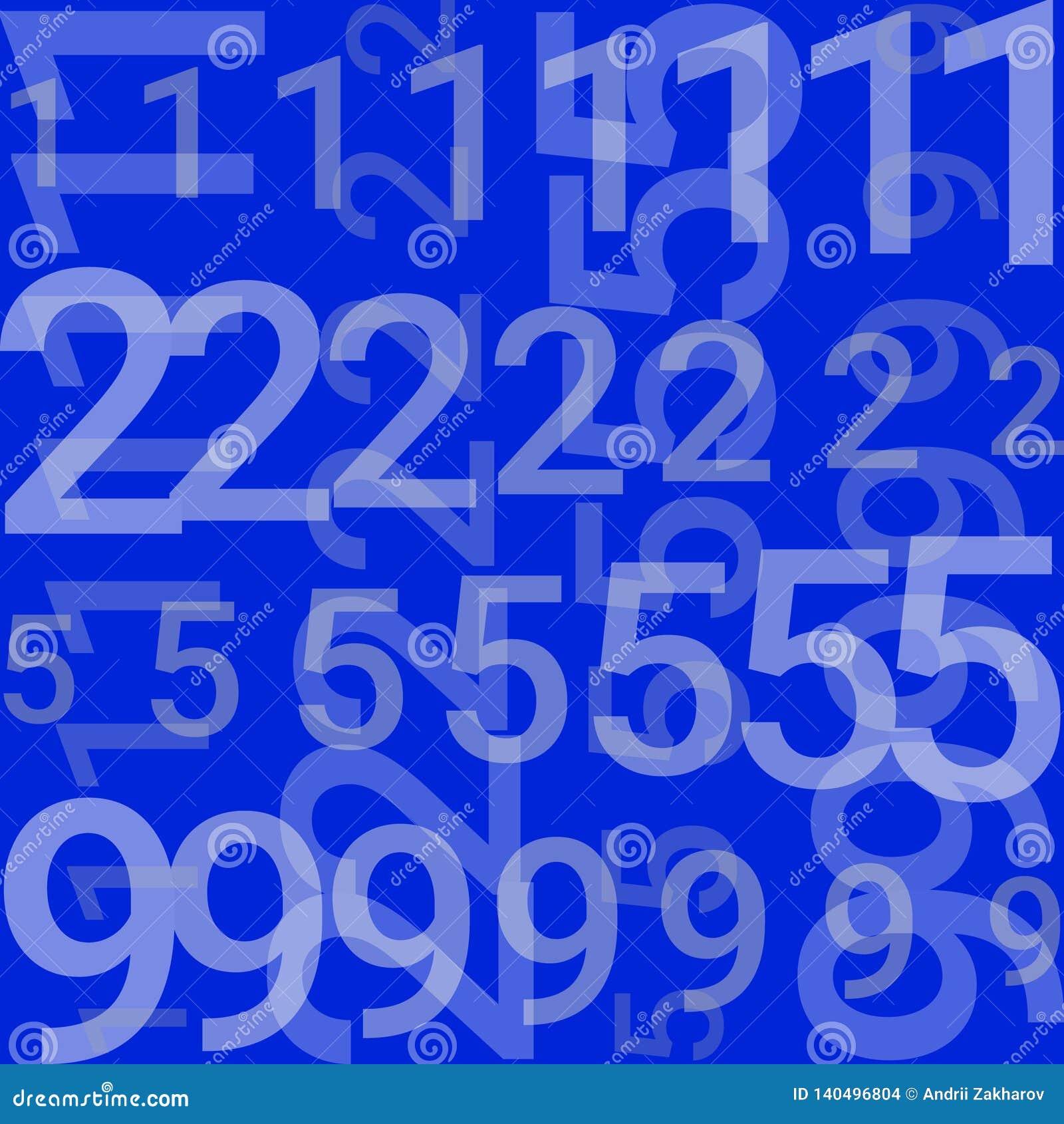 Sur un fond bleu il y a des lignes avec des nombres
