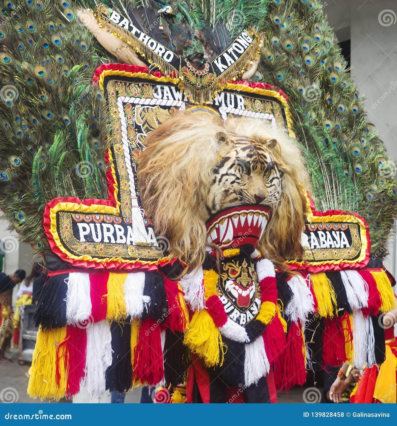 Surabaya, Indonesien, Touristen von den Provinzen der Insel von Java grüßend