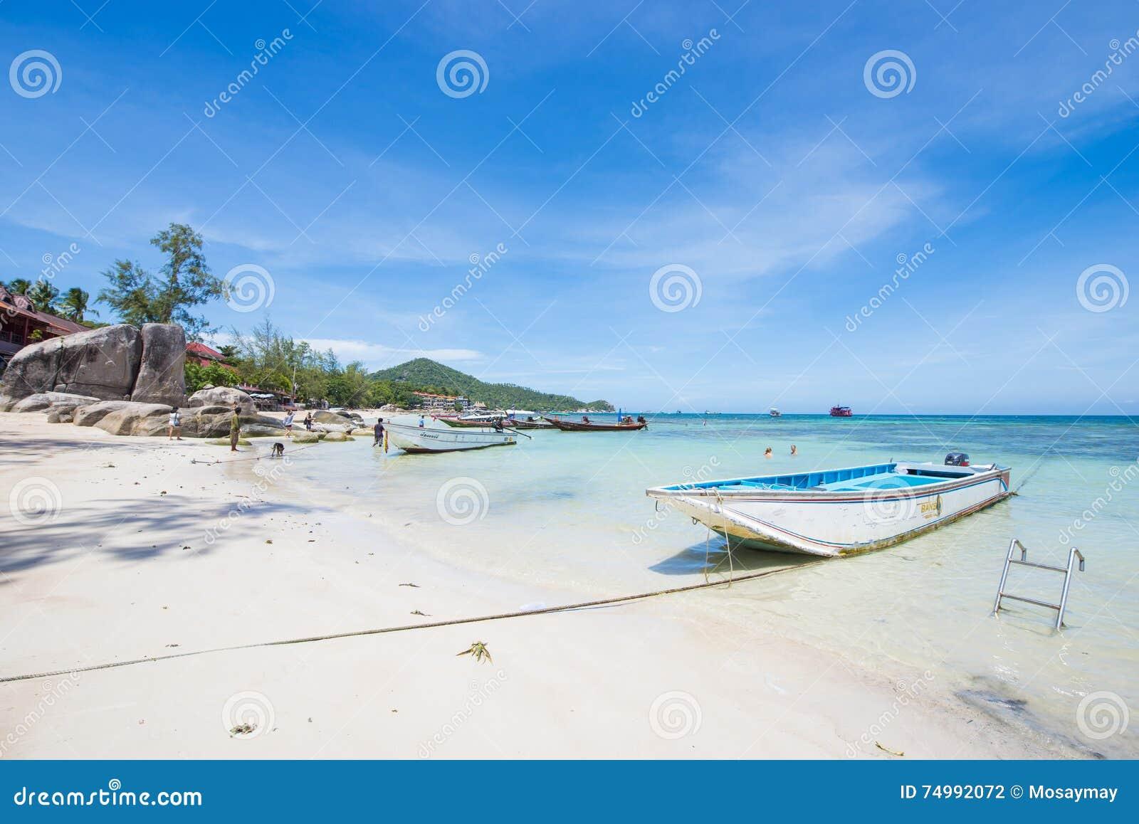 Surat Thani 14 June 2016 Beautiful Place Sairee Beach In Ko
