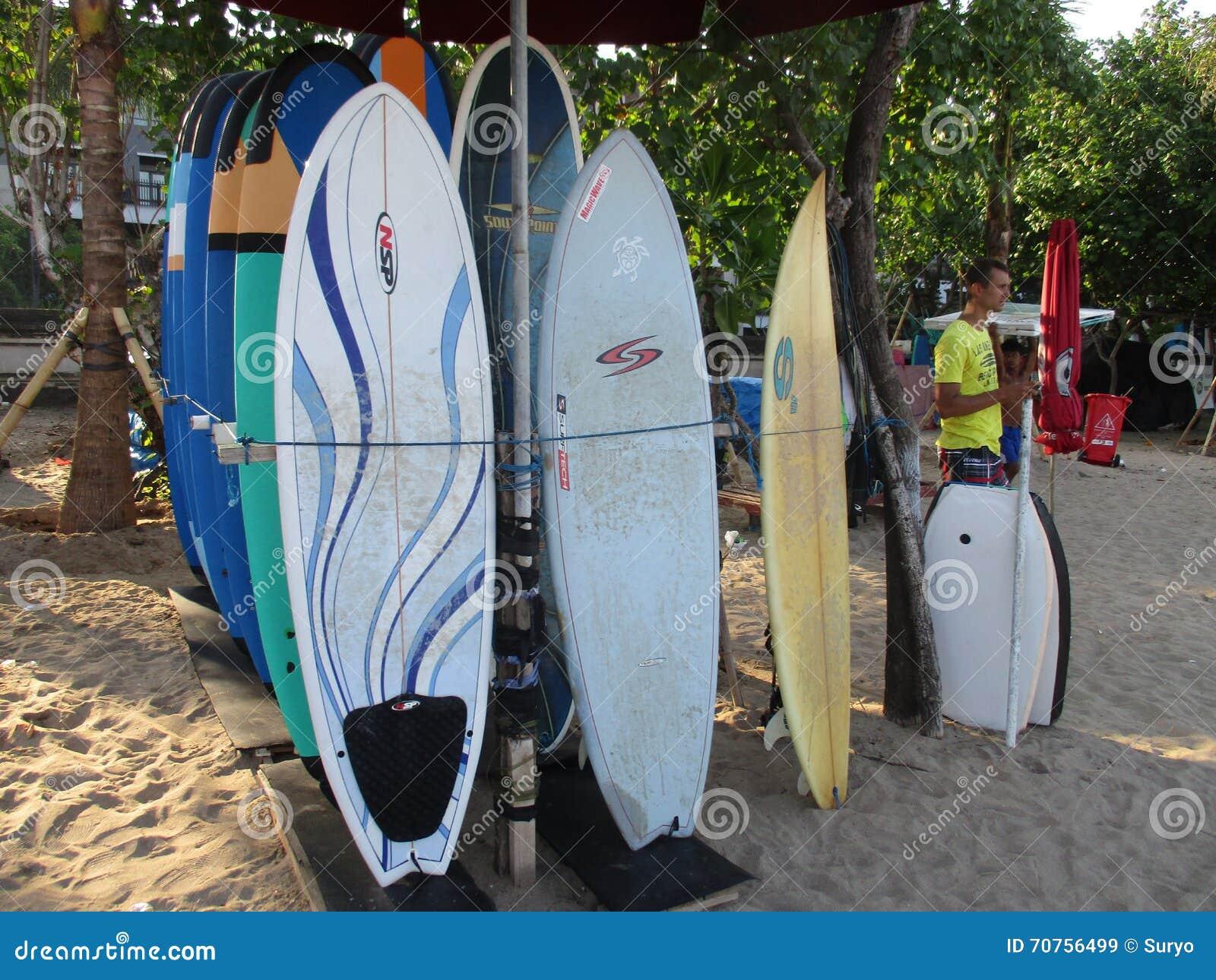 Surf Board Sea Graphic Art Black White Landscape