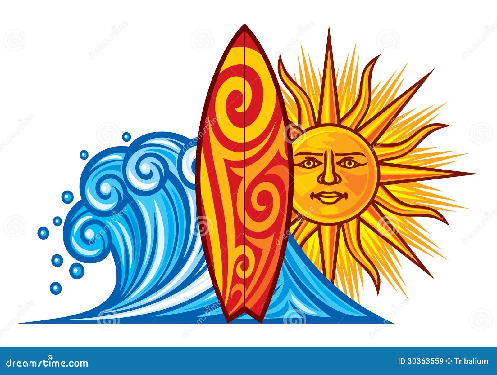 Surf design stock vector. Illustration of natural, surf