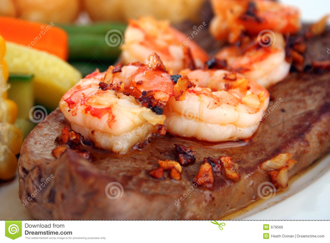 surf n 39 turf stock photo image of prawns prawn menu 679566. Black Bedroom Furniture Sets. Home Design Ideas