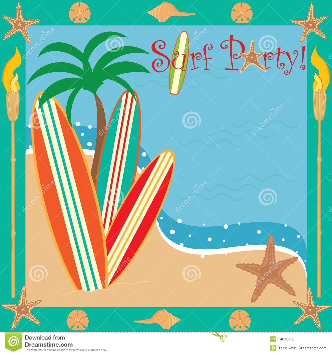 Beach Party Invites as amazing invitation example