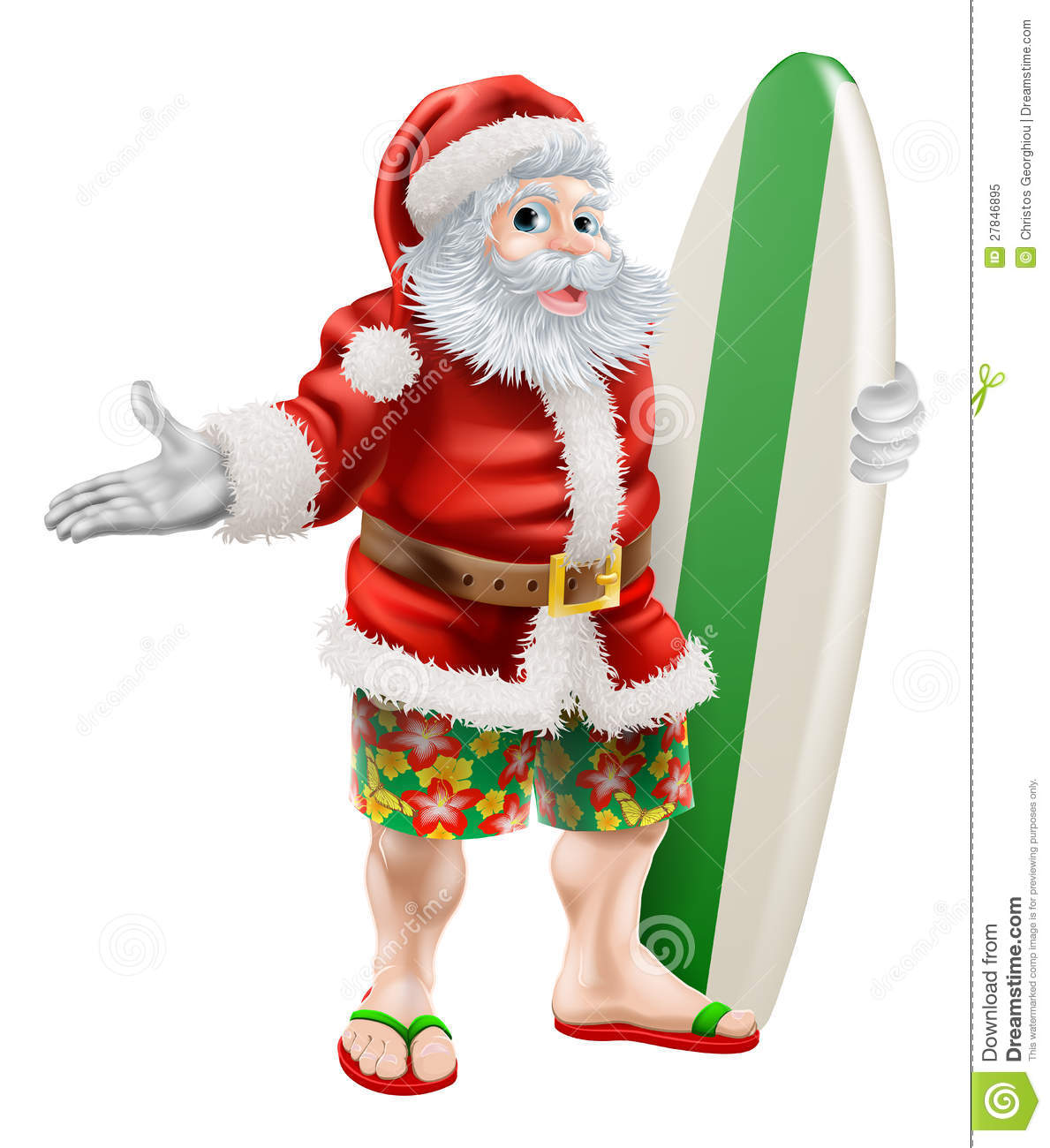 surf santa stock vector illustration of board shorts 27846895 rh dreamstime com Santa Face Clip Art Santa Face Clip Art