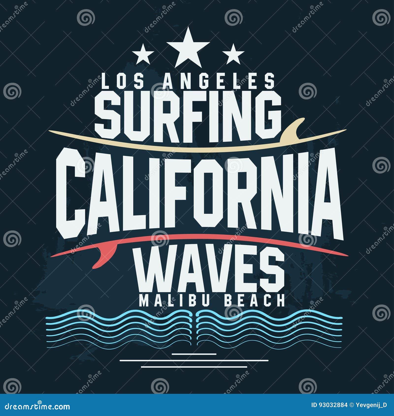 Surf T-shirt Graphic Design  Surfing Grunge Print Stamp