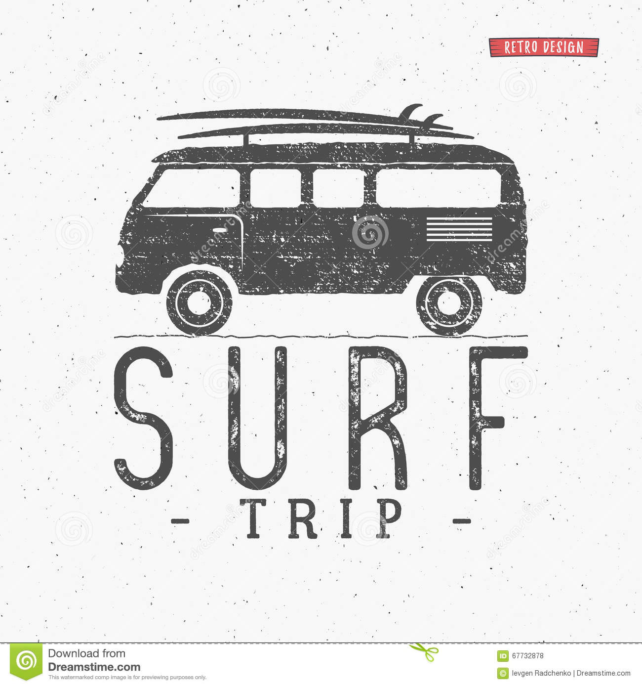 Download Surf Trip Concept Vector Summer Surfing Retro Badge Beach Surfer Emblem Rv Outdoors