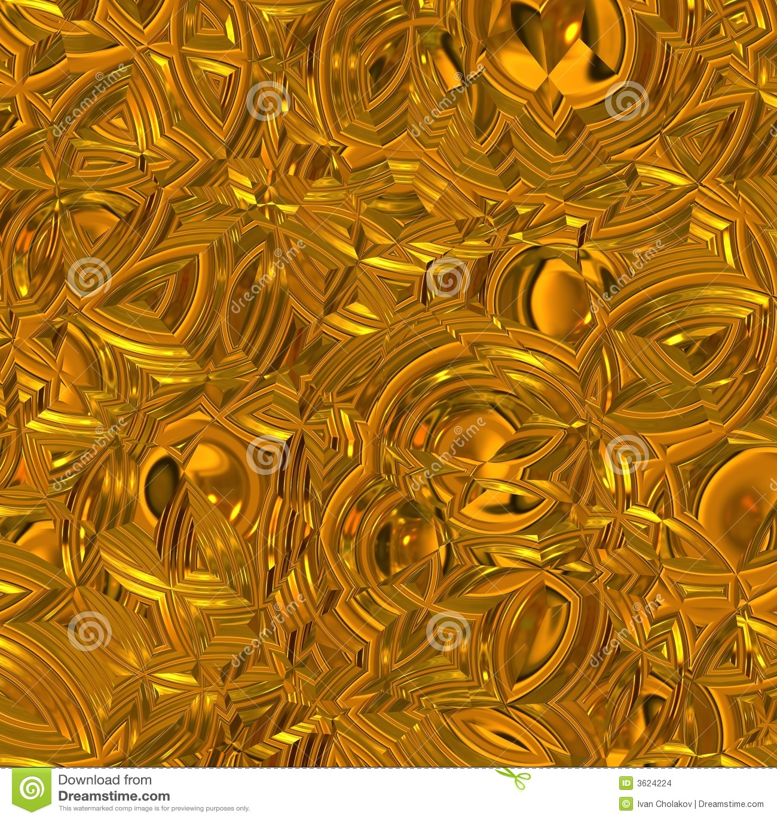 Surface éclatante d or