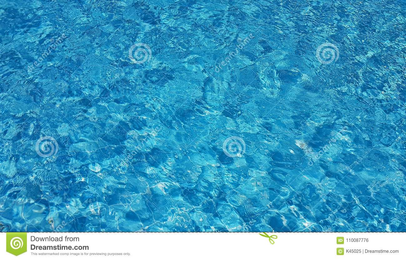 Surface of blue swimming pool background of water in - How to make swimming pool water blue ...