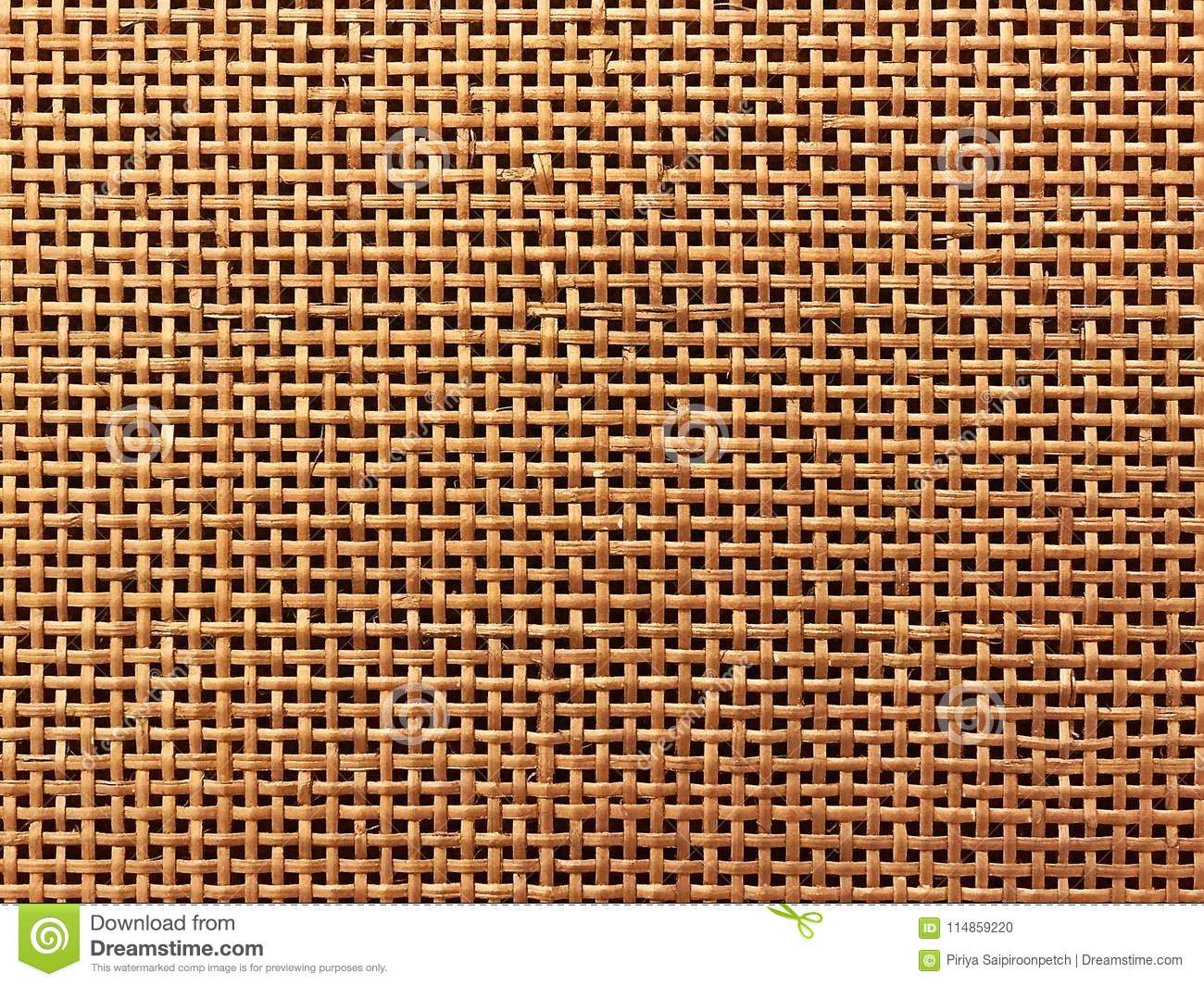 Surface of Brown Wicker texture for background.