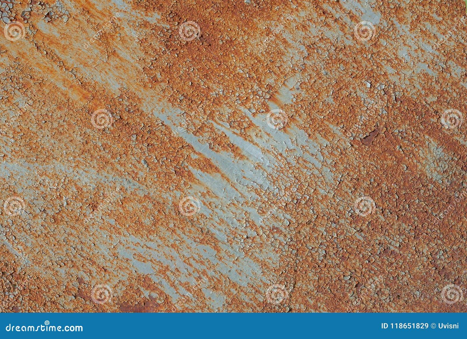 Surface De Fer Rouillé Avec Des Restes De Vieille Peinture Peinture