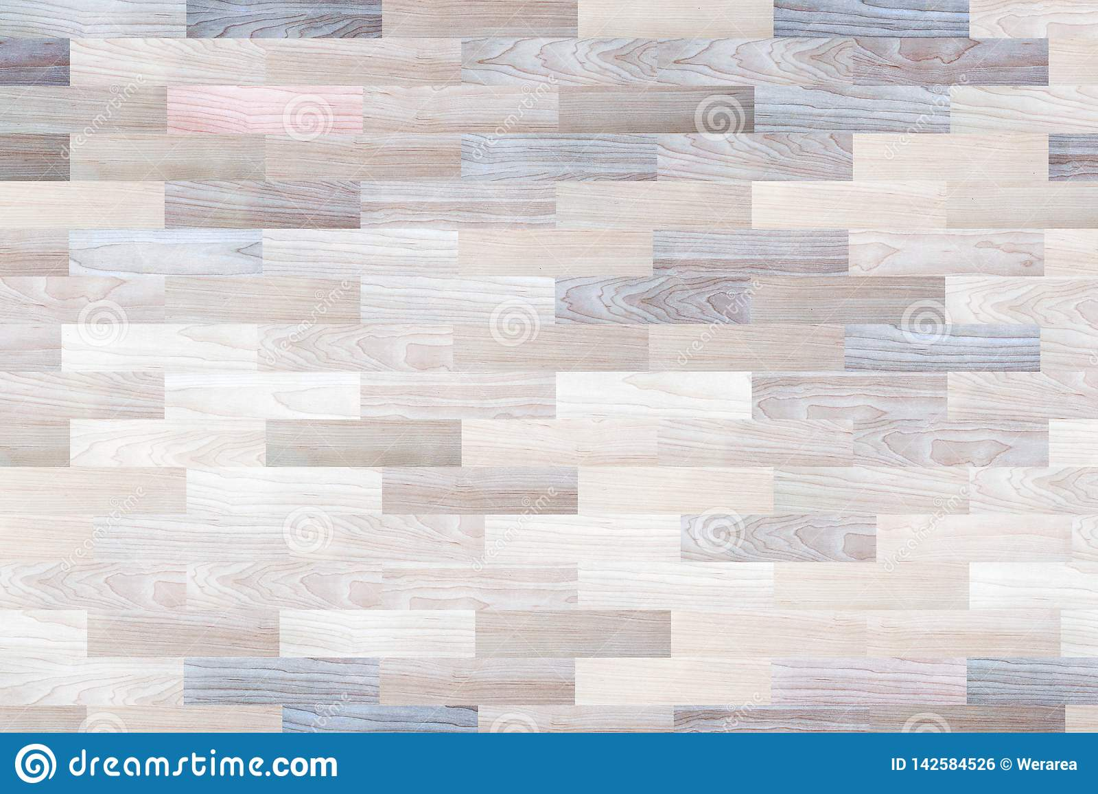 Surface du plancher en bois de modèle