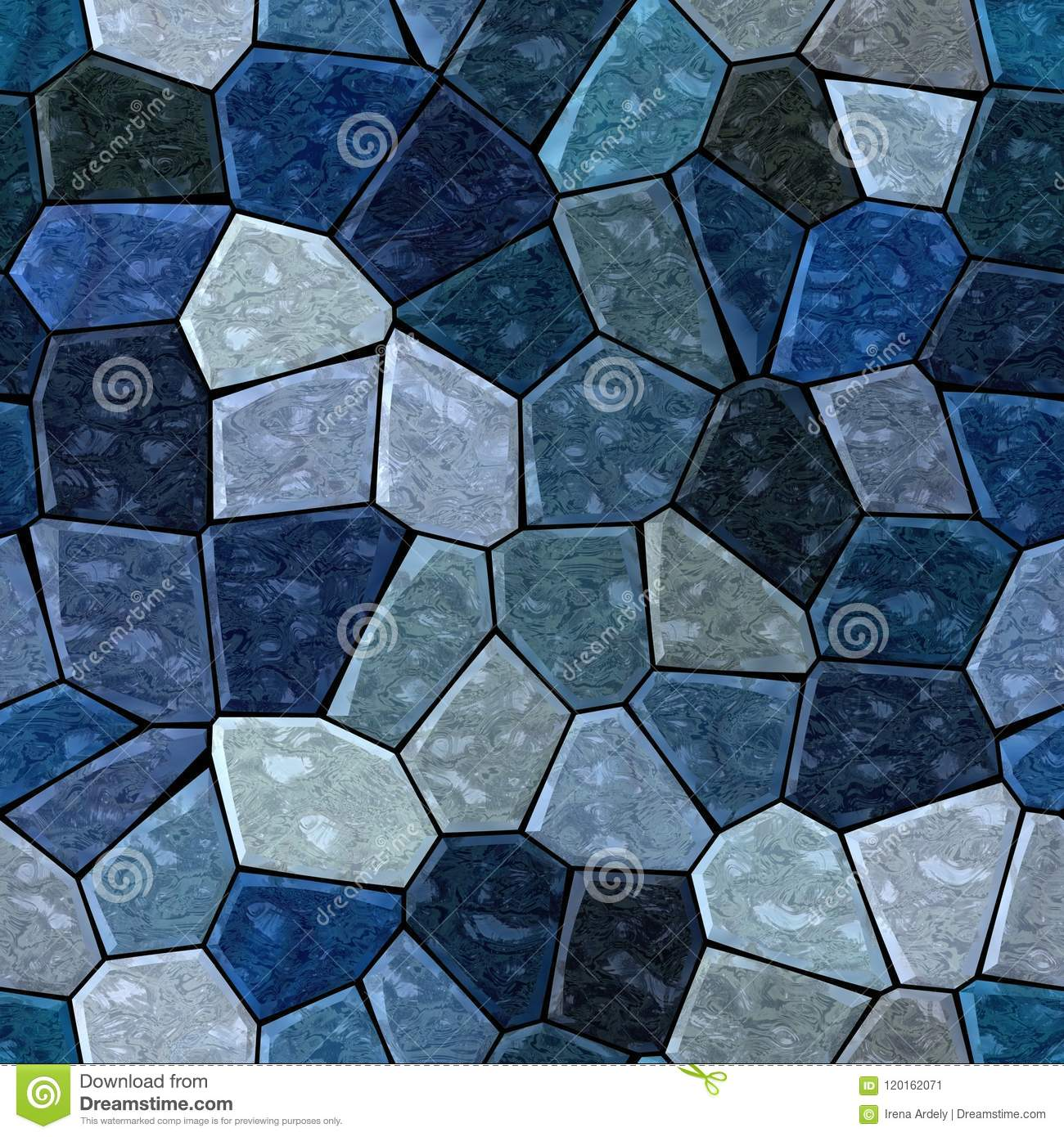 Surface Marble Mosaic Pattern Seamless Background With Black Grout ...