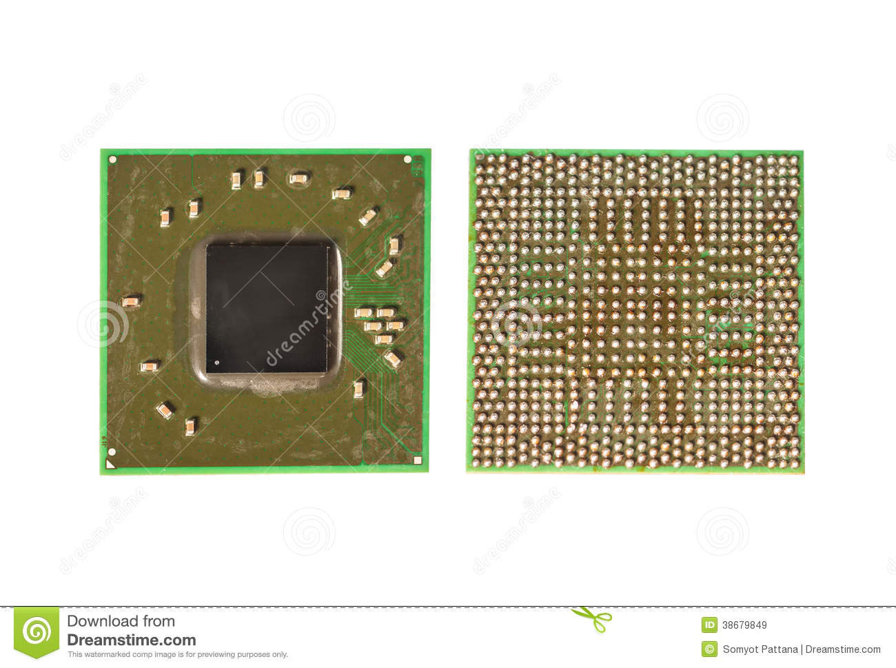 Surface Mount Integrated Circuit Chip Royalty Free Stock