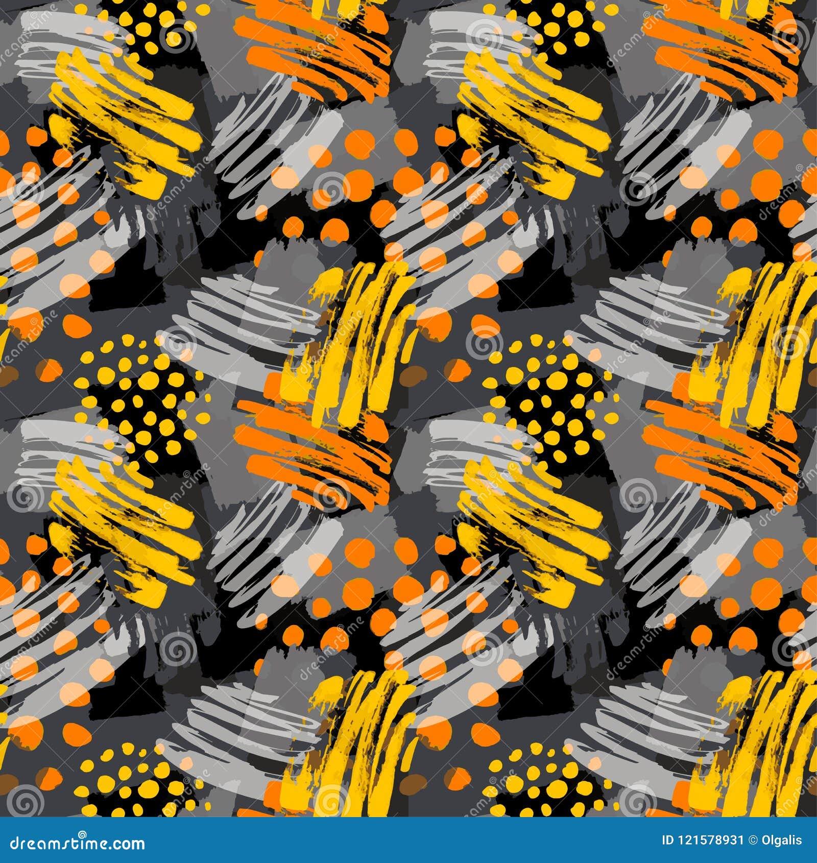 Surface Pattern Design Graffiti Seamless Hand Craft Expressive