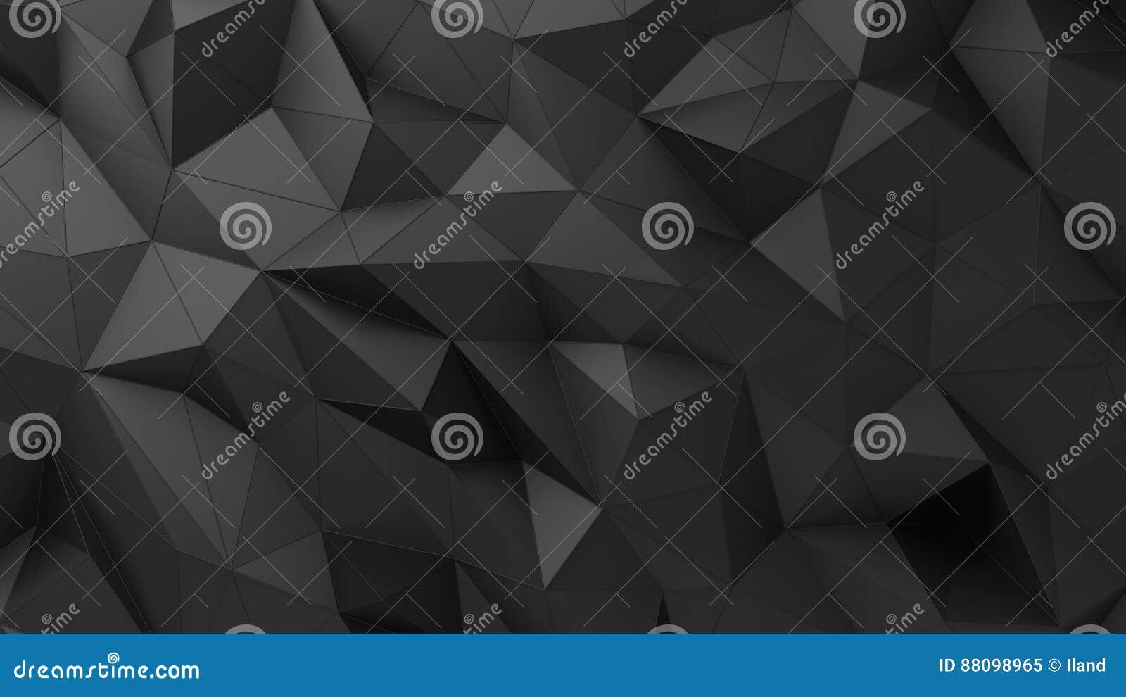 Surface triangulaire fripée par résumé noir