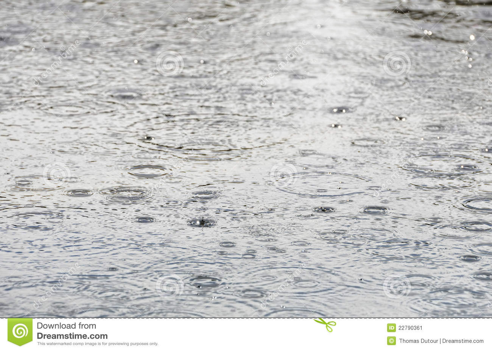 Surface vatten för raindrops
