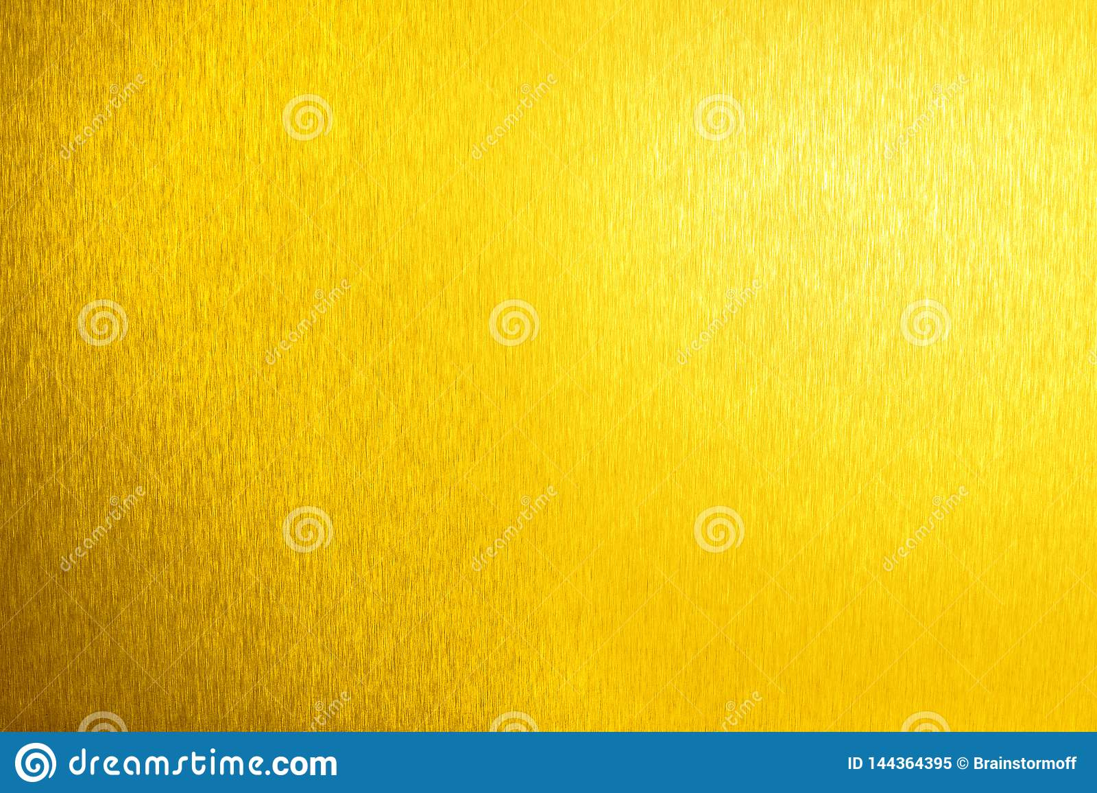 Surface vide brillante en métal d or, fond métallique brillant jaune, fin de contexte de feuille d or, texture de scintillement d