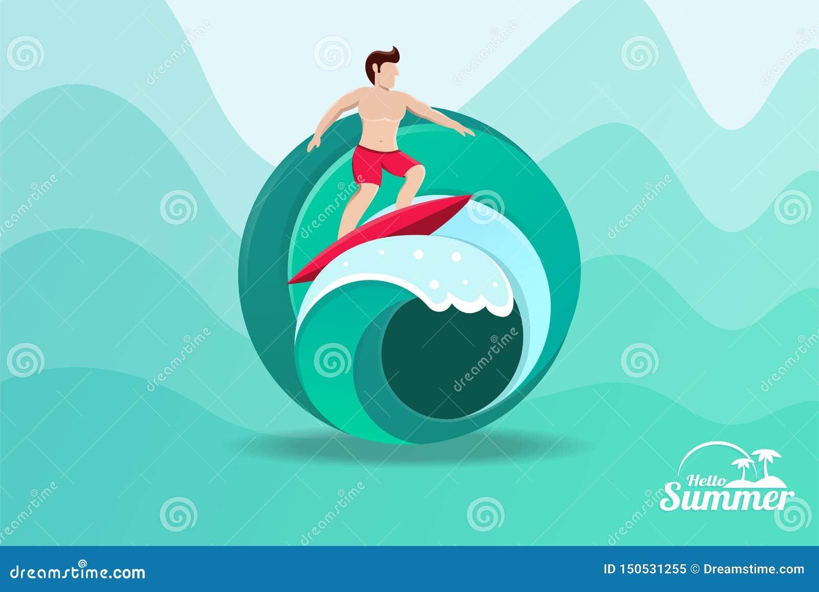 Surfar das horas de verão