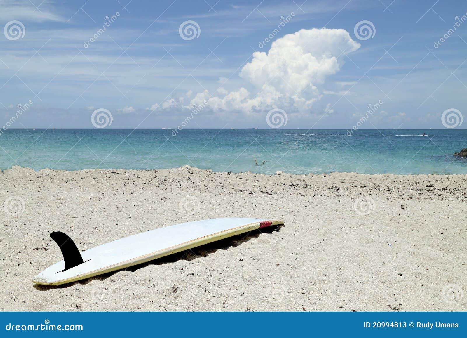 Surfboard On Beach Stock Photos - Image: 20994813