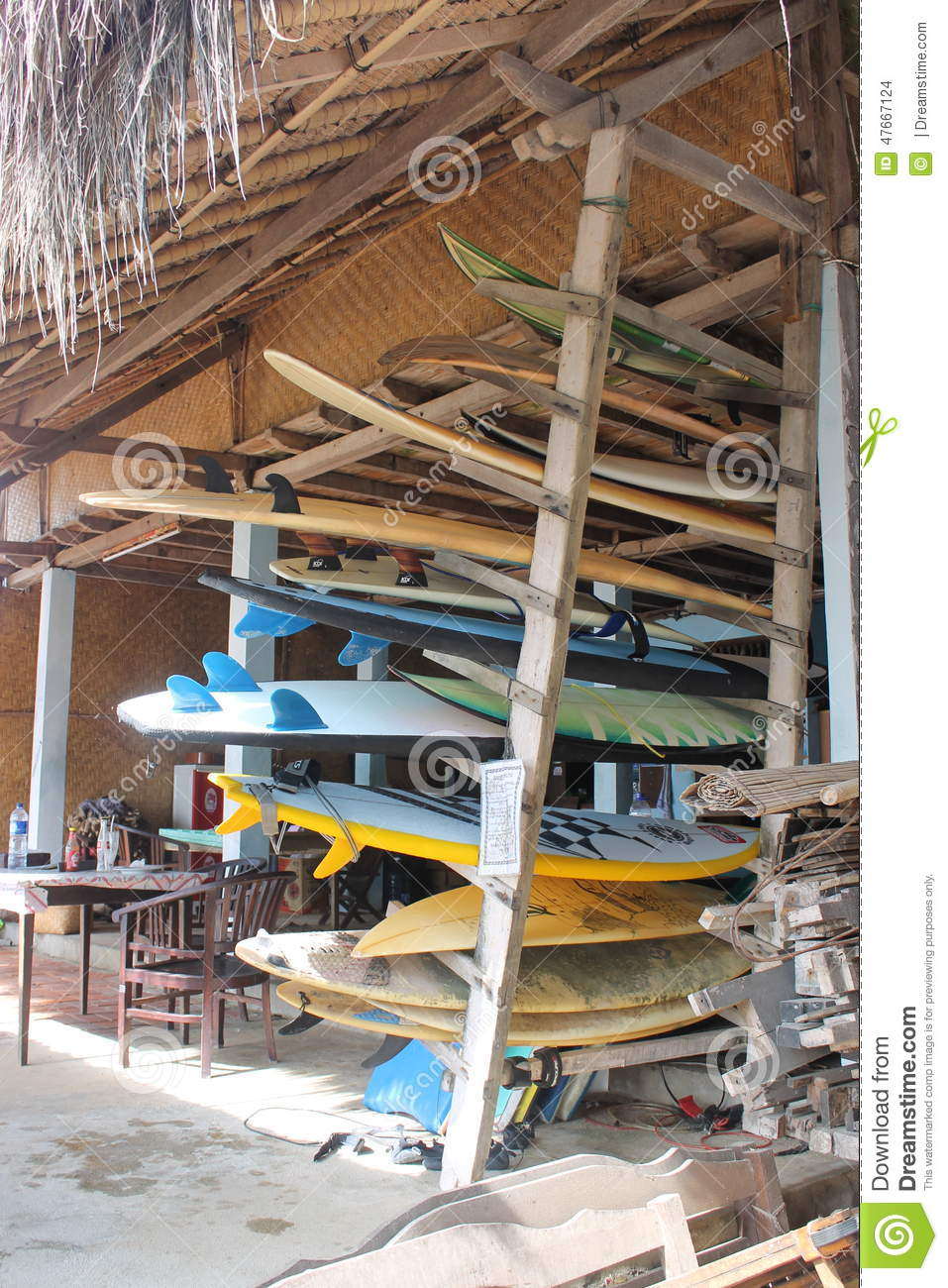 Surfboards Editorial Stock Image Image Of Bali Surfboards 47667124