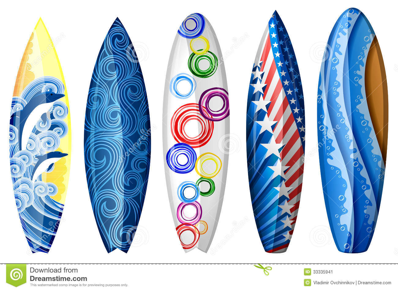 Surfboards stock image image 33335941 for Awesome surfboard designs