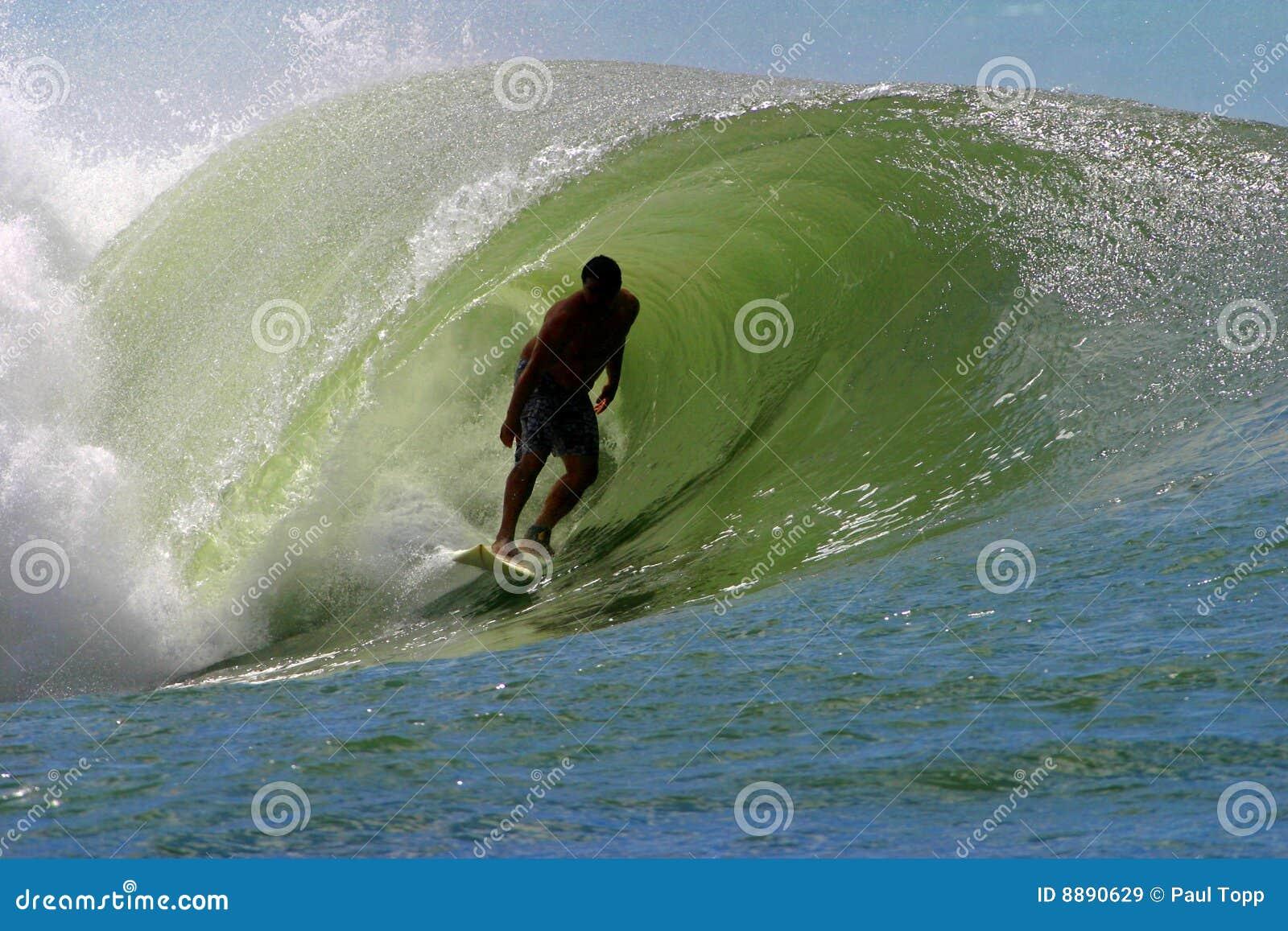 Surfer κύμα σωληνώσεων σερφ
