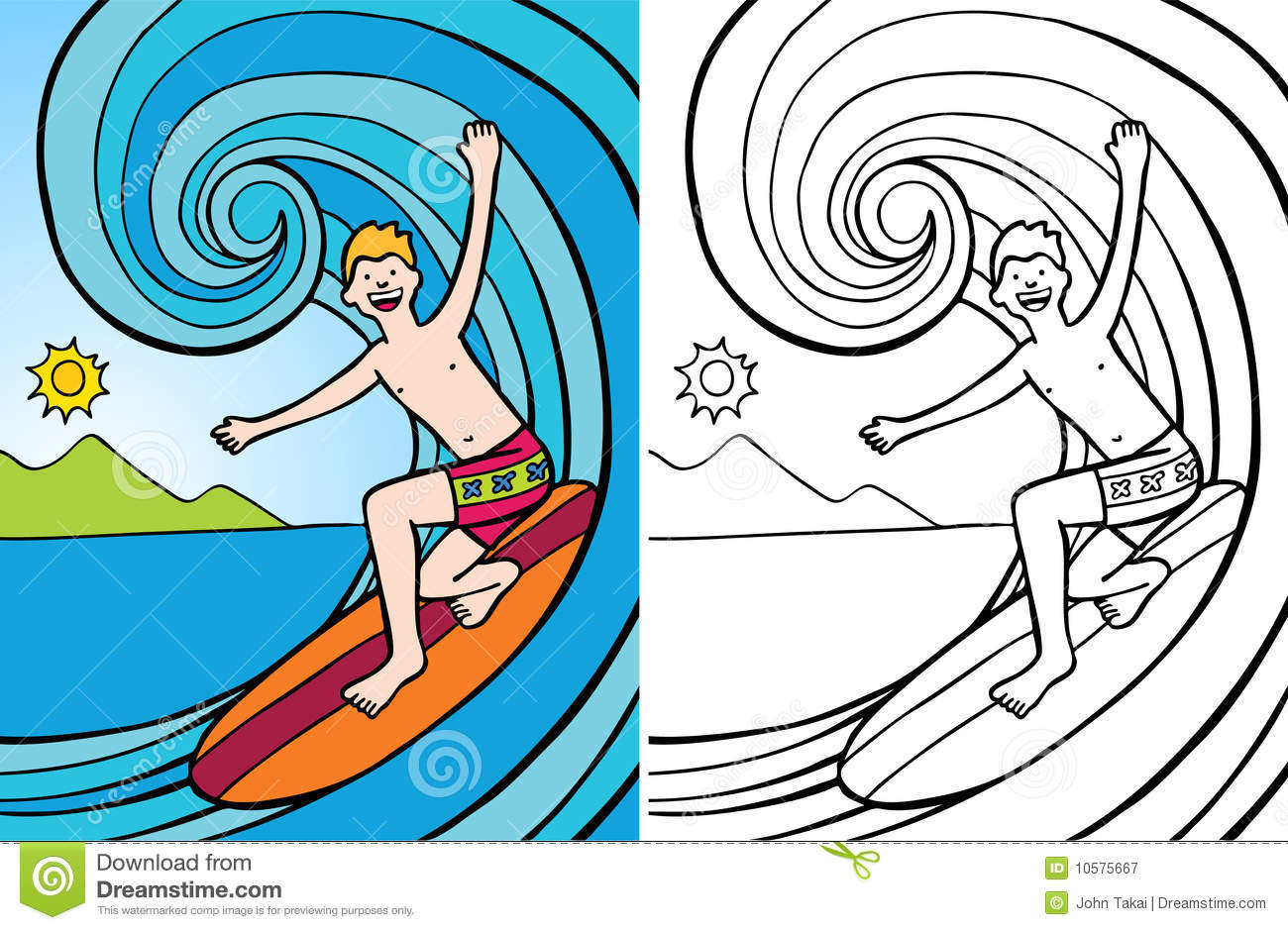 Big Wave Coloring Pages