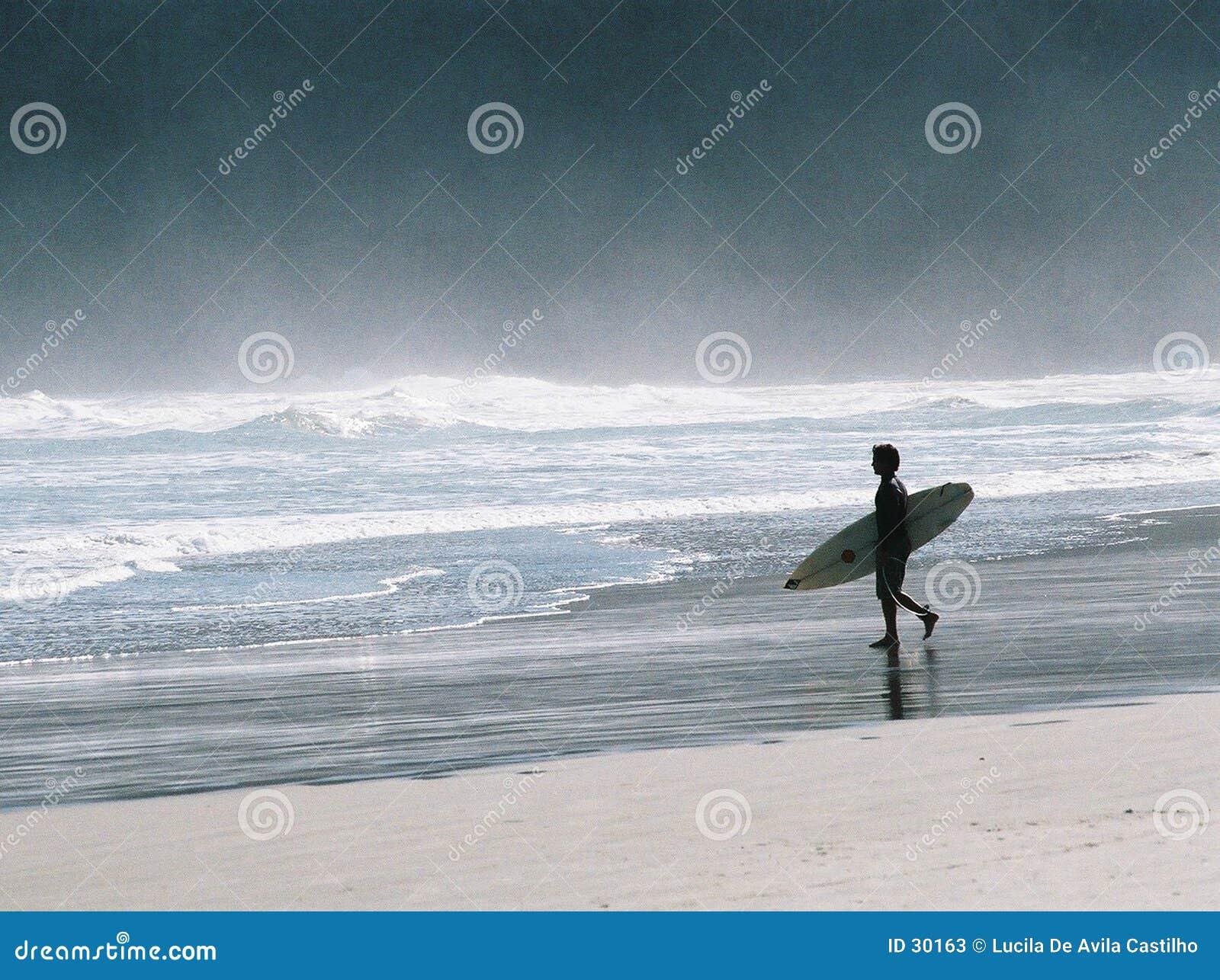 Surfer allé