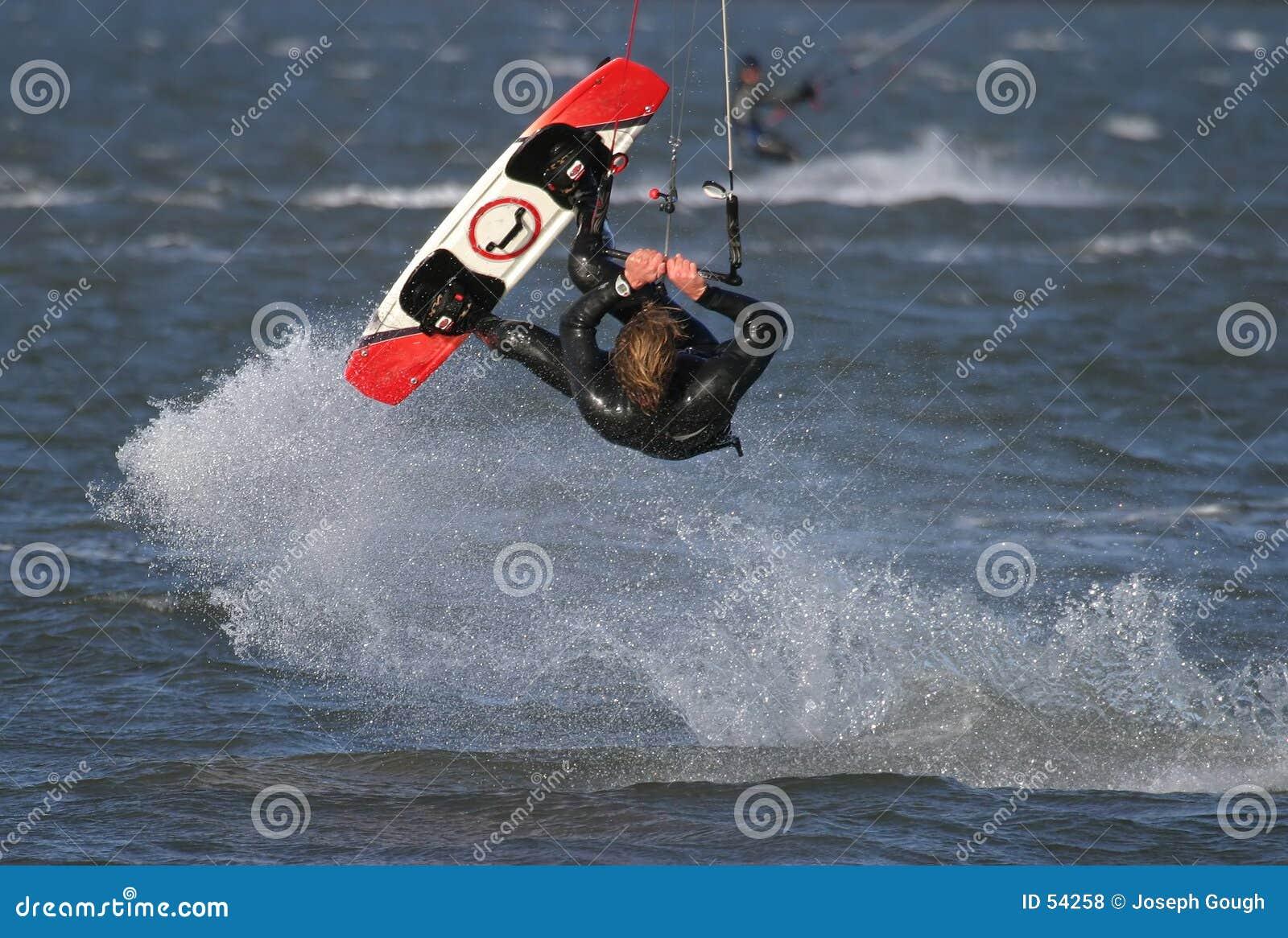 Download Surfer de cerf-volant photo stock. Image du bleu, panneau - 54258
