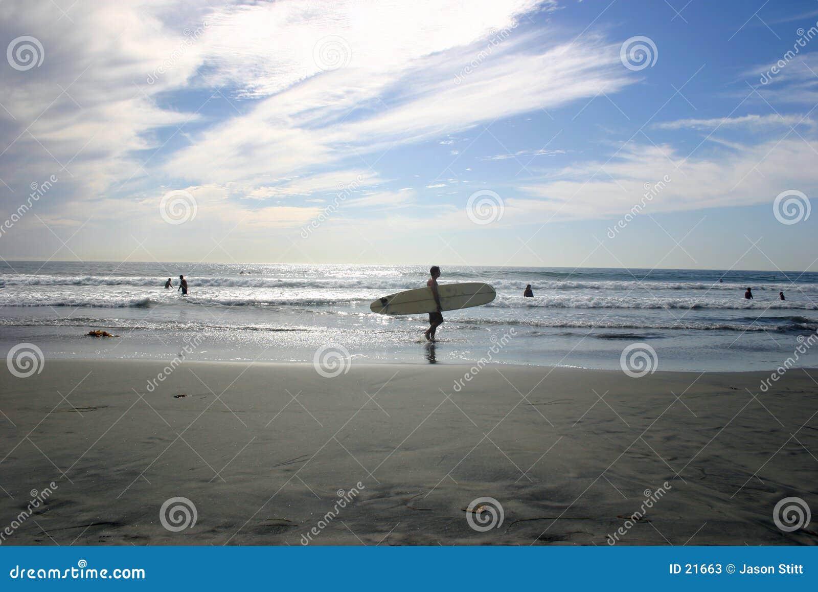 Surfer de plage