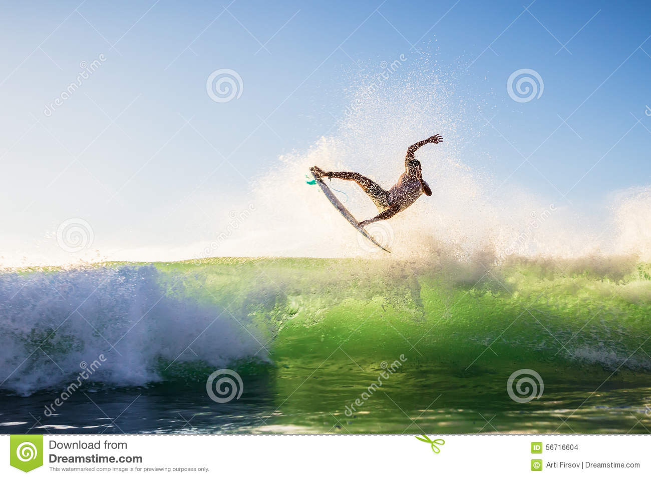 A surfer does the trick, Bali