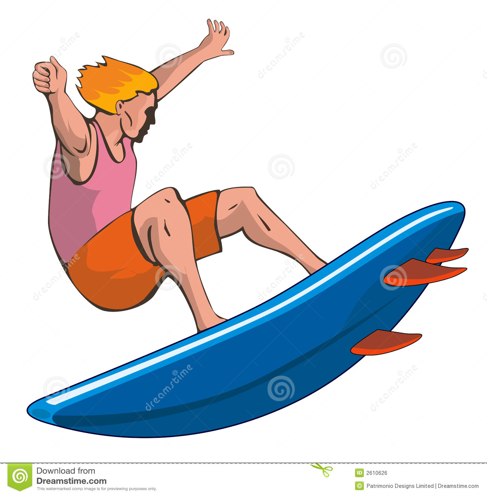 Surfer Dude On White Royalty Free Stock Image - Image: 2610626