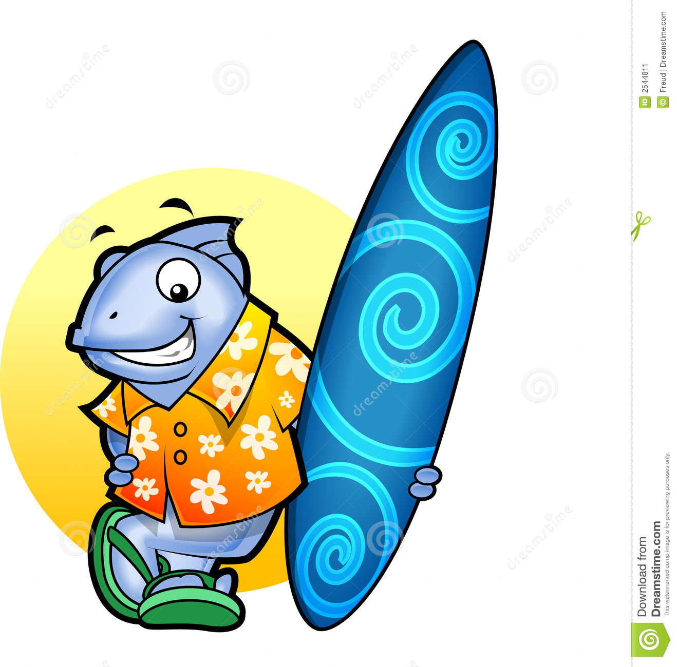 Surfer un fish