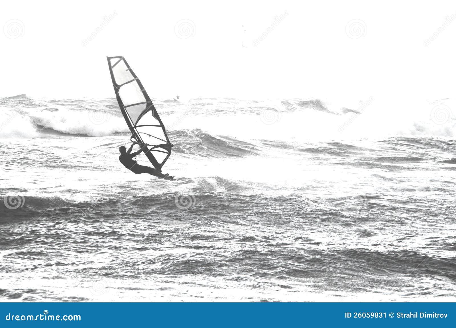 Surfer in het overzees