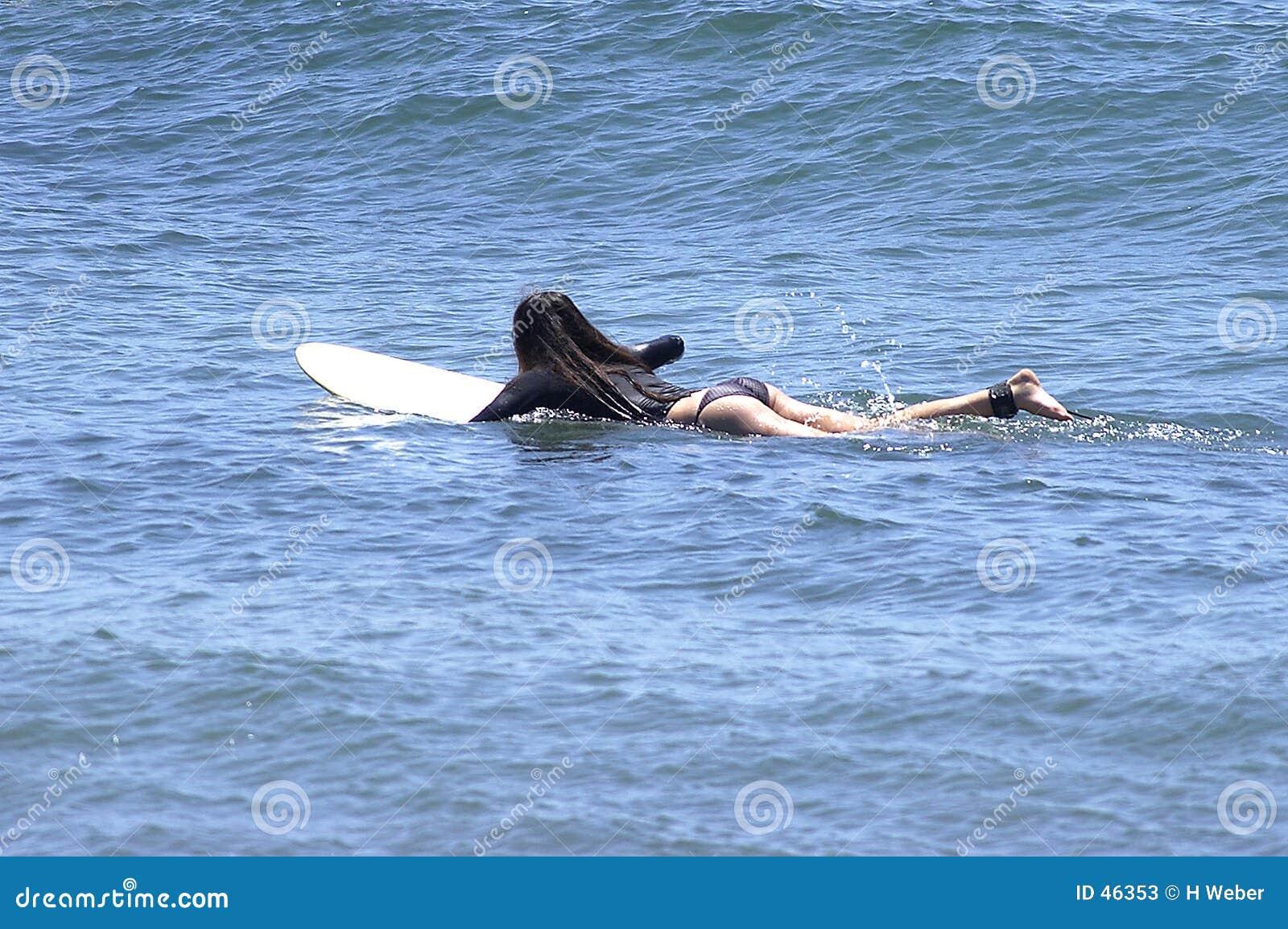 Surfer-Mädchen