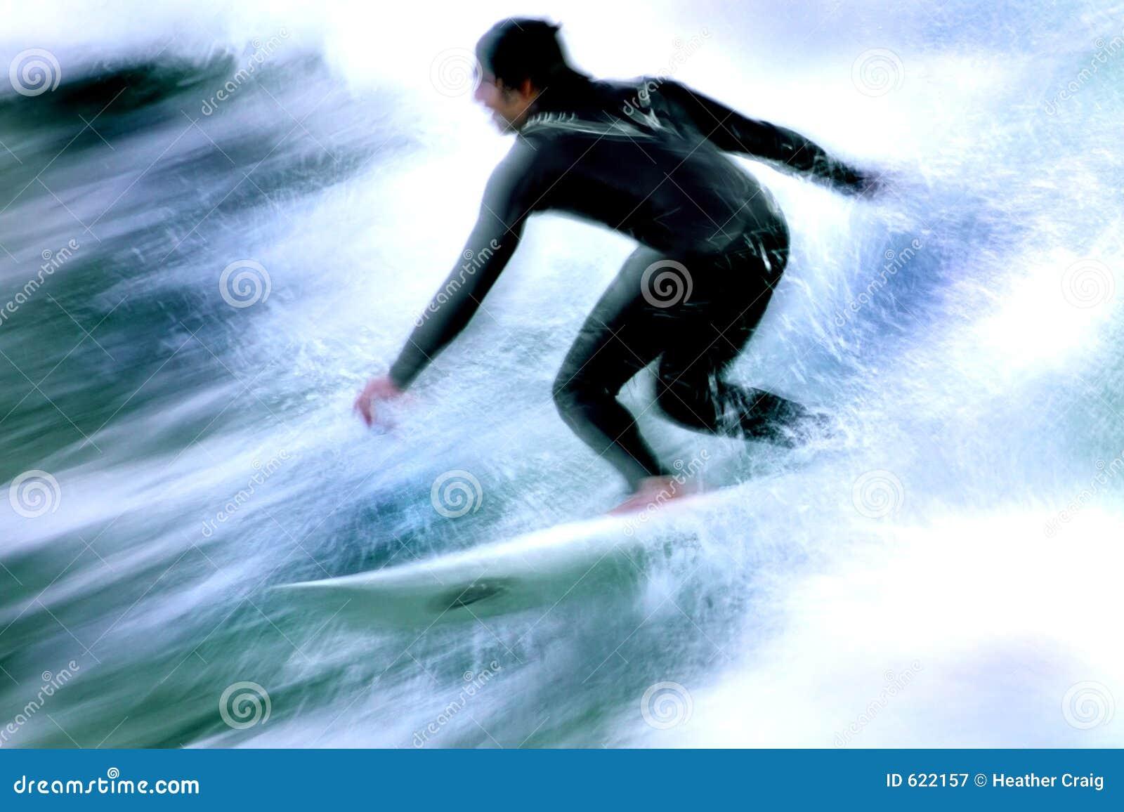 Surfer in Motie 4
