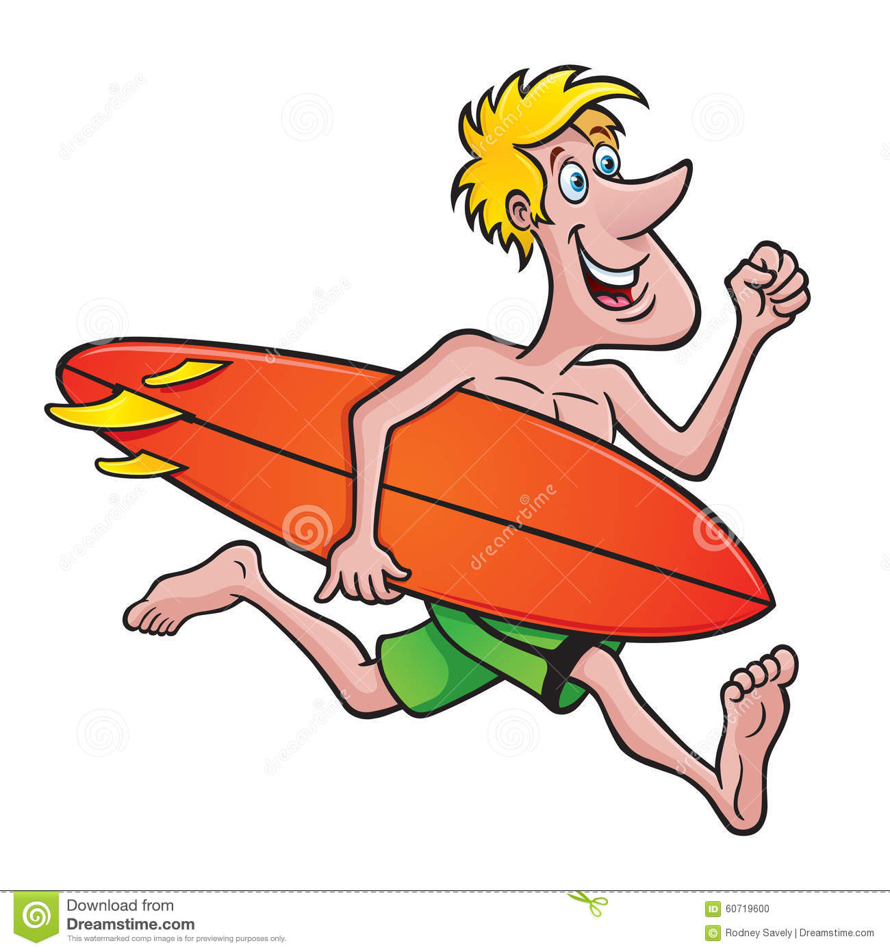 surfer running with a surfboard stock illustration illustration of rh dreamstime com Animated Surfer Clip Art Animated Surfer