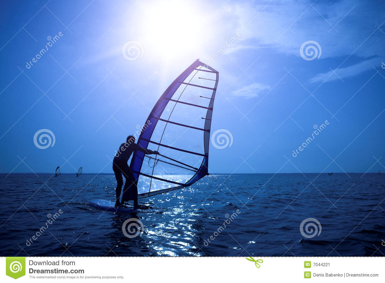 Surfer on sunshine