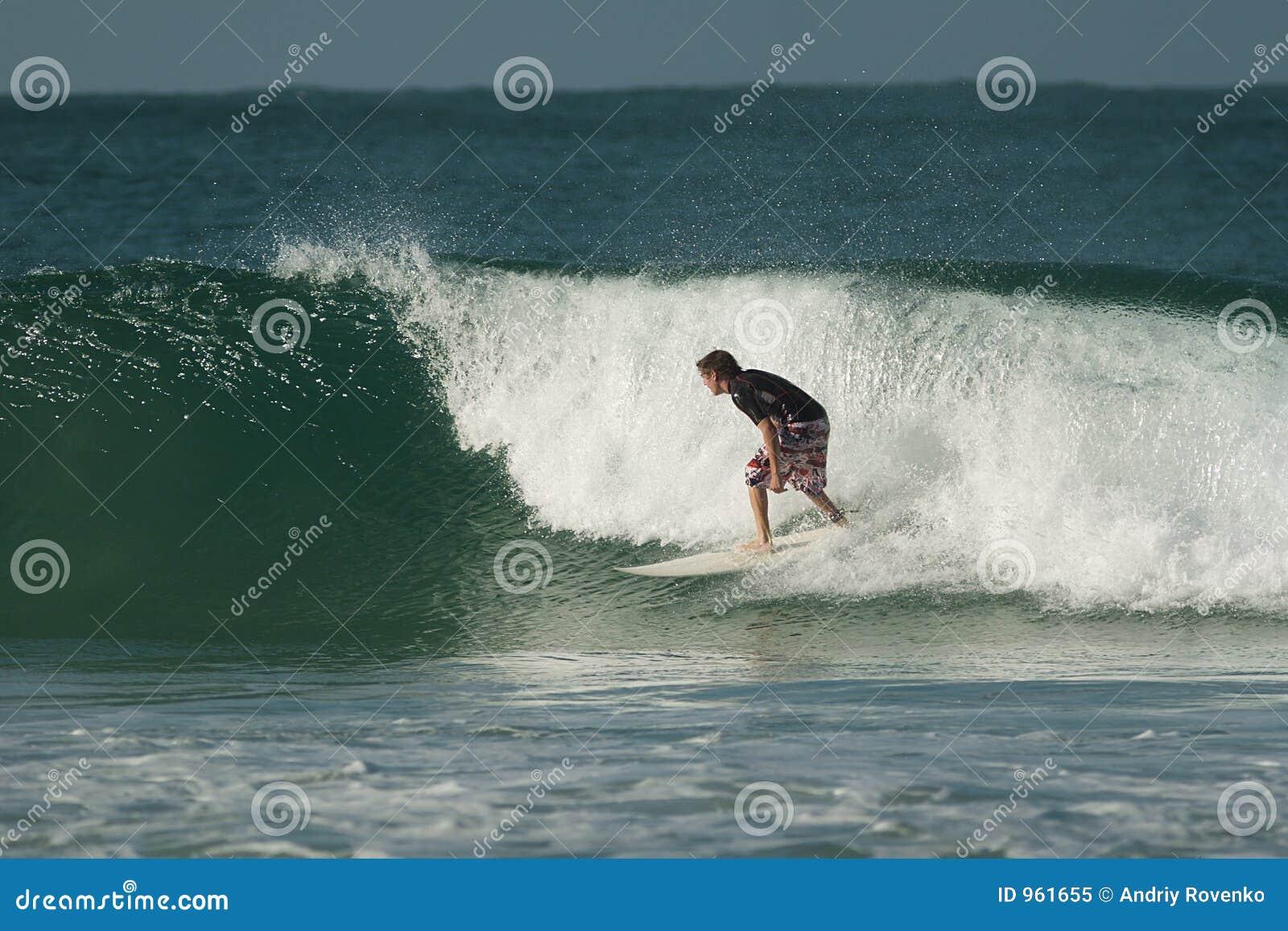 Surfer sur une onde