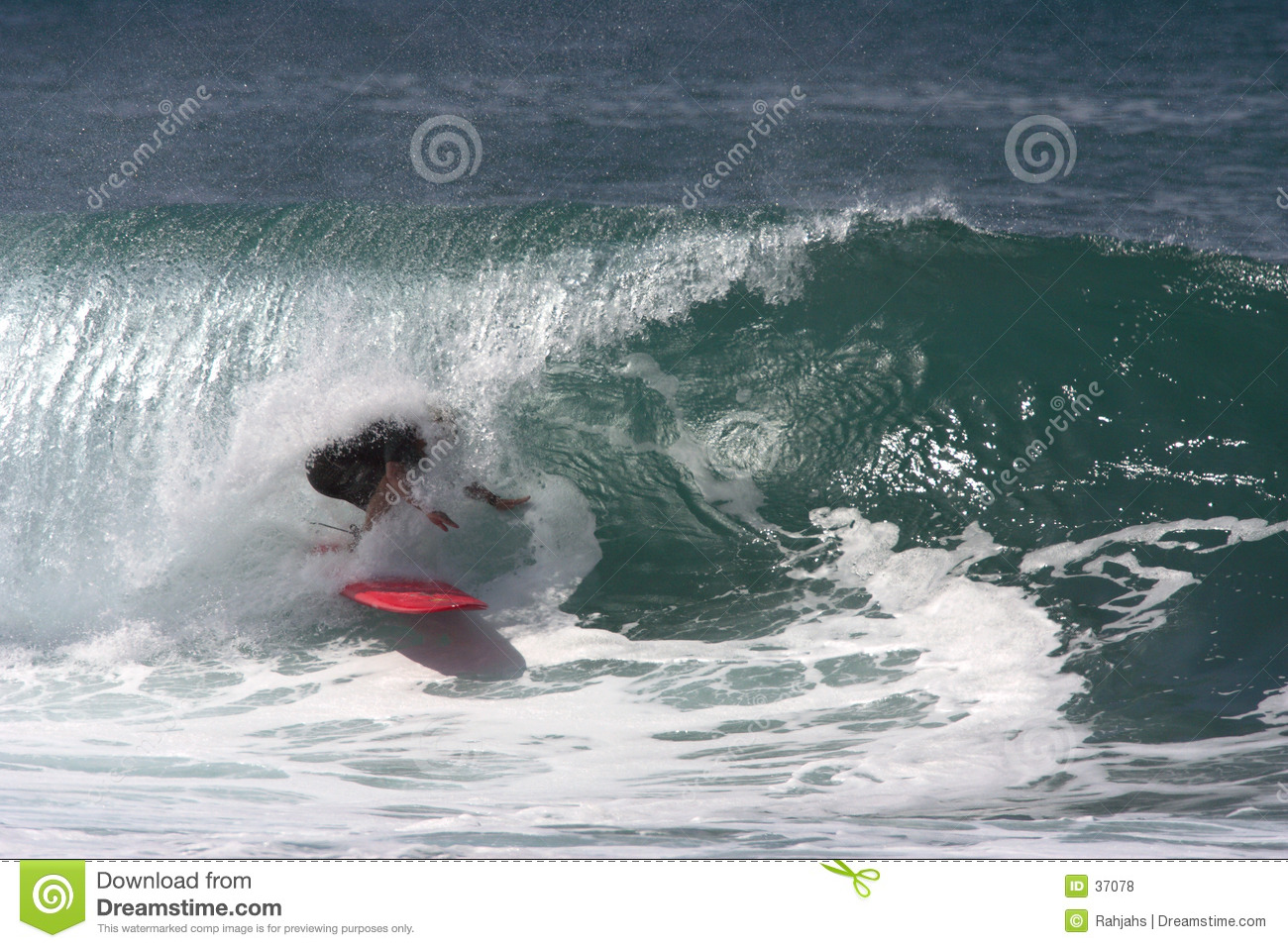 Surfer under the Lip, Tube Rider