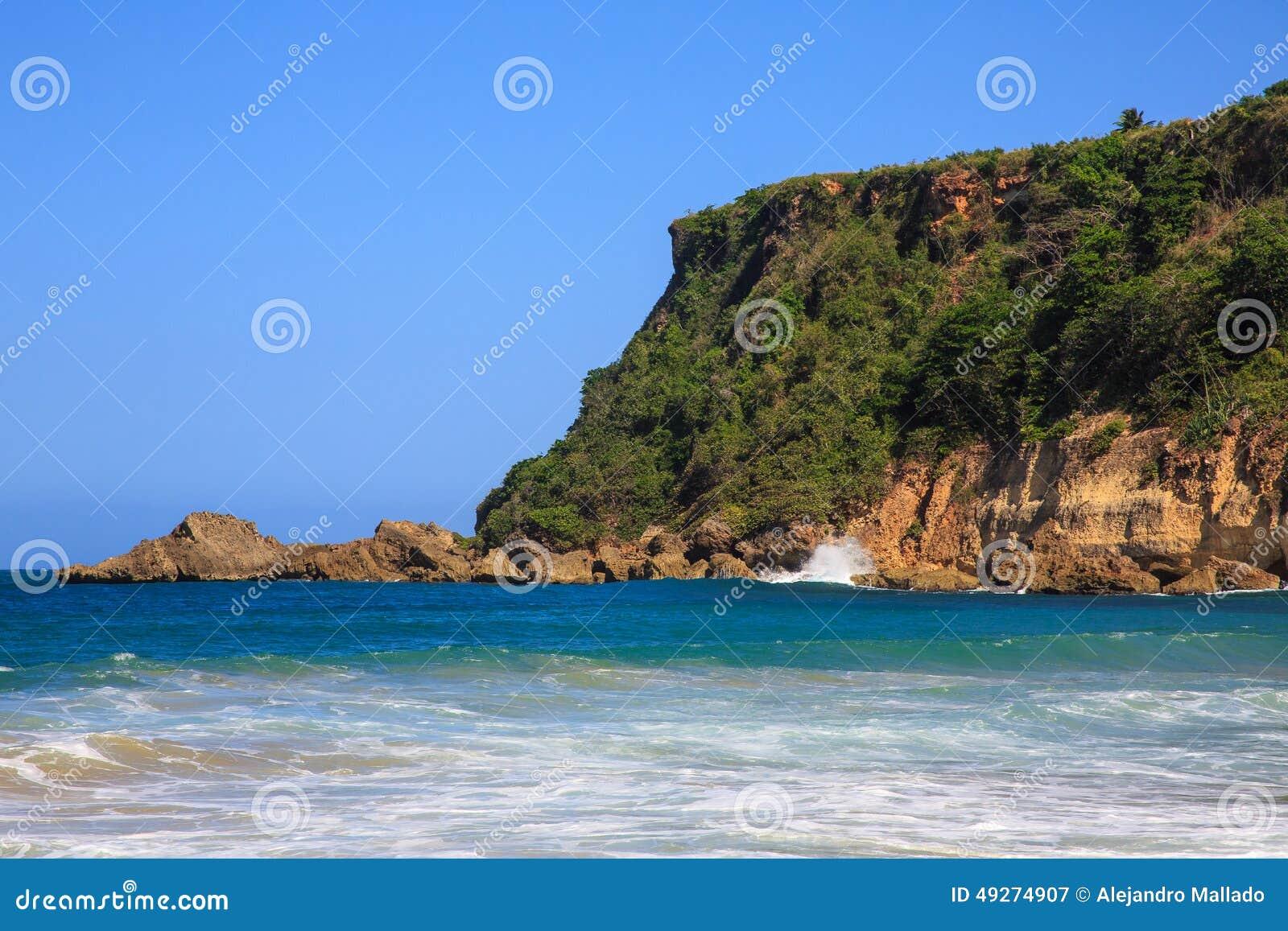Surfers Beach At Aguadilla Puerto Rico