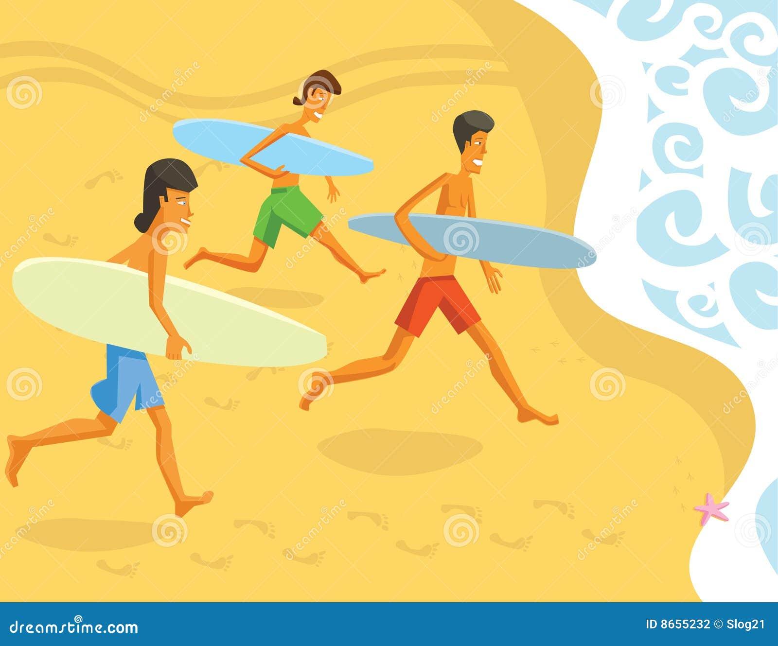 Surfers courants d océan
