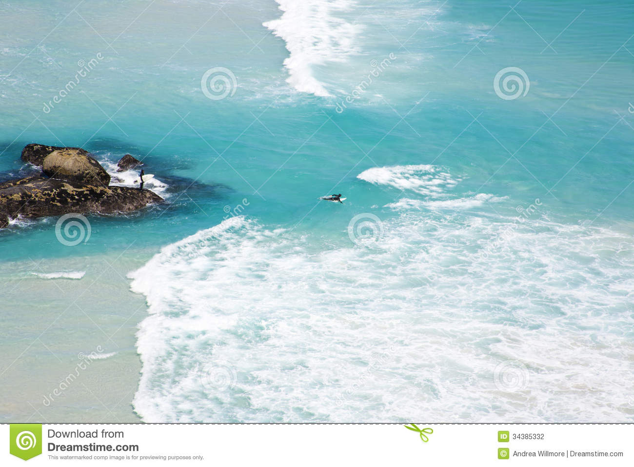 Surfers at Noordhoek Beach