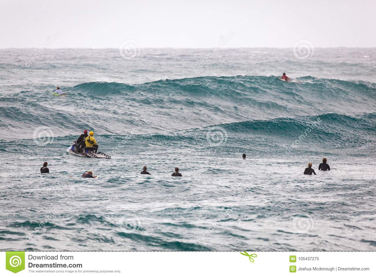 5652b0918fa90a Surfers Waiting For Waves Sunset Beach Editorial Image - Image of ...