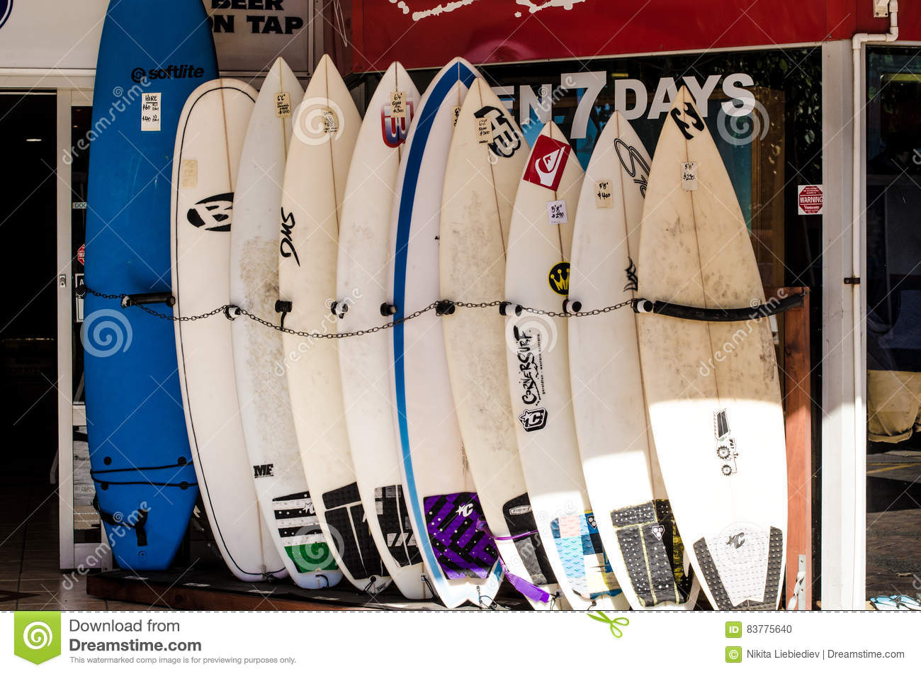 Surfing Boards Editorial Image Image Of Sale Australia