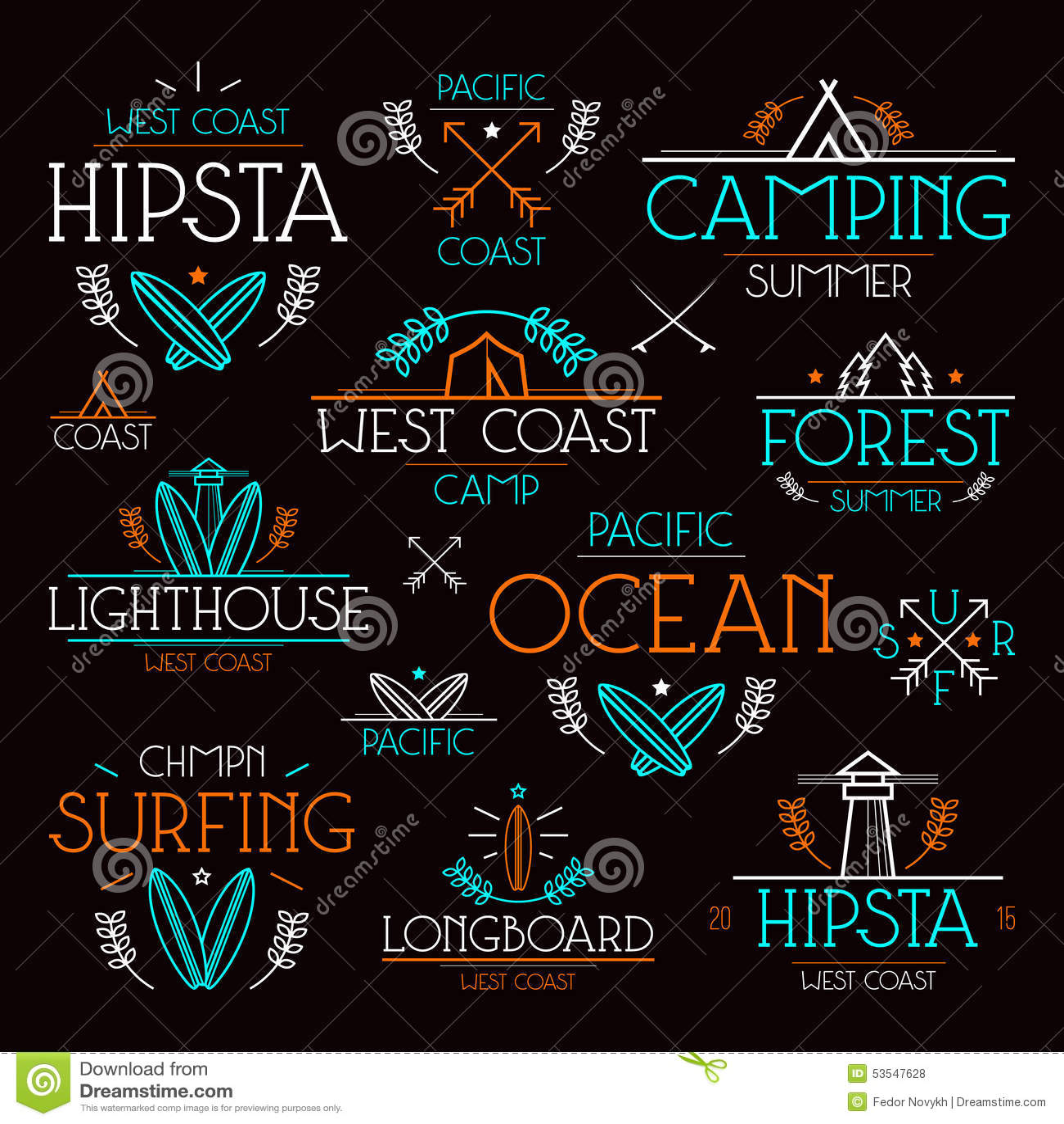 Design t shirt neon colors - Design T Shirt Neon Colors Surfing And Camping Badges Surfing And Camping Badges In Thin
